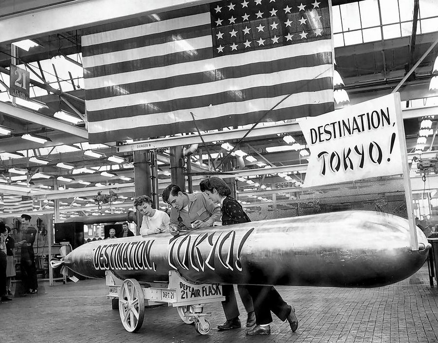 After the United States entered World War II, the factories in Chicago and the suburbs switched from making tractors and toys to cranking out tanks and torpedoes.