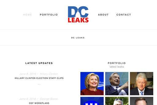 "This image shows part of an archive capture from the Internet Archive's ""Wayback Machine"" of the website DCLeaks.com on June 13, 2016. The Associated Press found powerful evidence of a direct link between Fancy Bear hackers and the interlocking leakers DCLeaks, WikiLeaks and Guccifer 2.0. All the Democrats whose private correspondence was published in the run-up to the 2016 U.S. election were targeted by Fancy Bear. (Wayback Machine/Internet Archive via AP)"