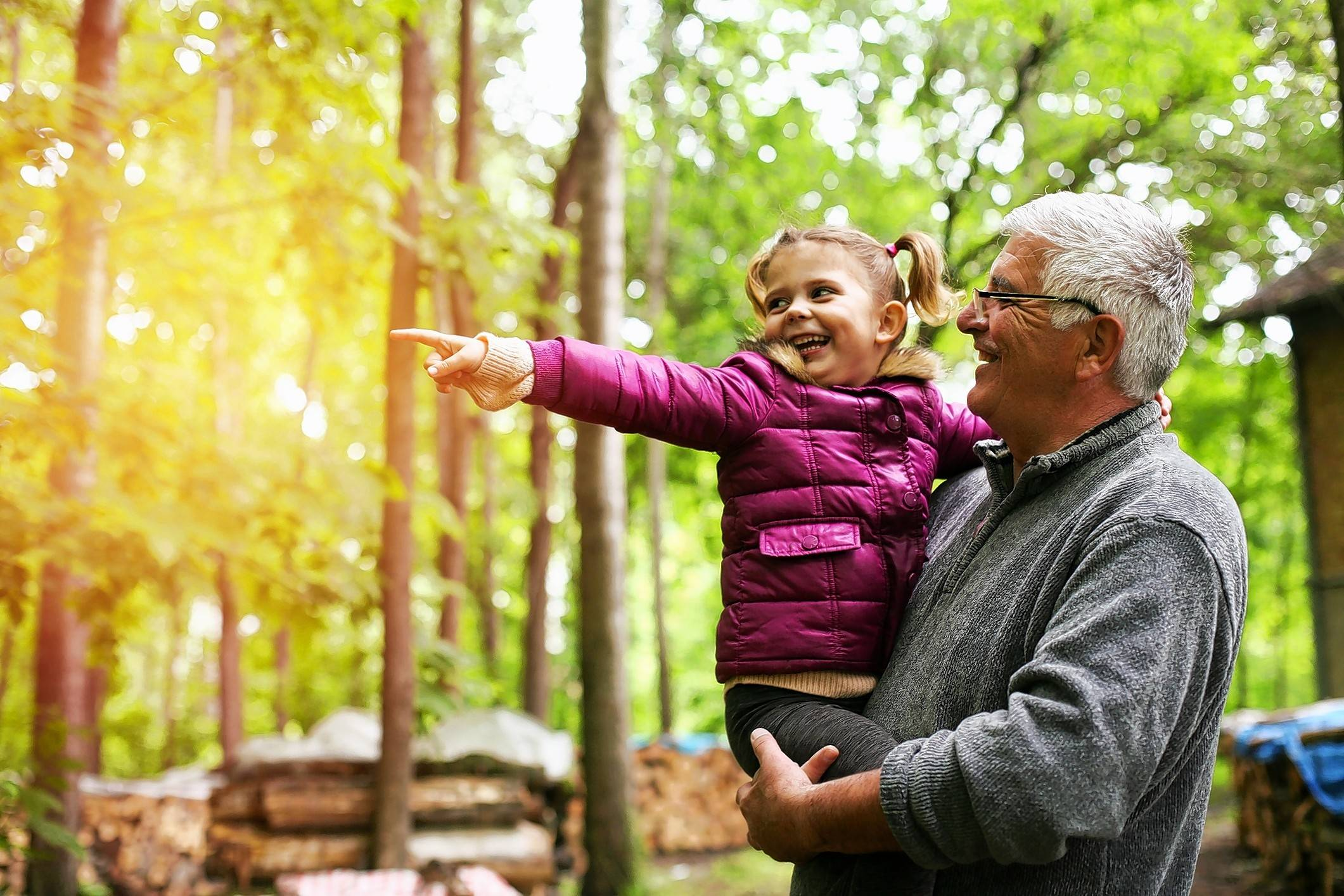 Some older adults discover a sense of purpose from helping take care of grandchildren.