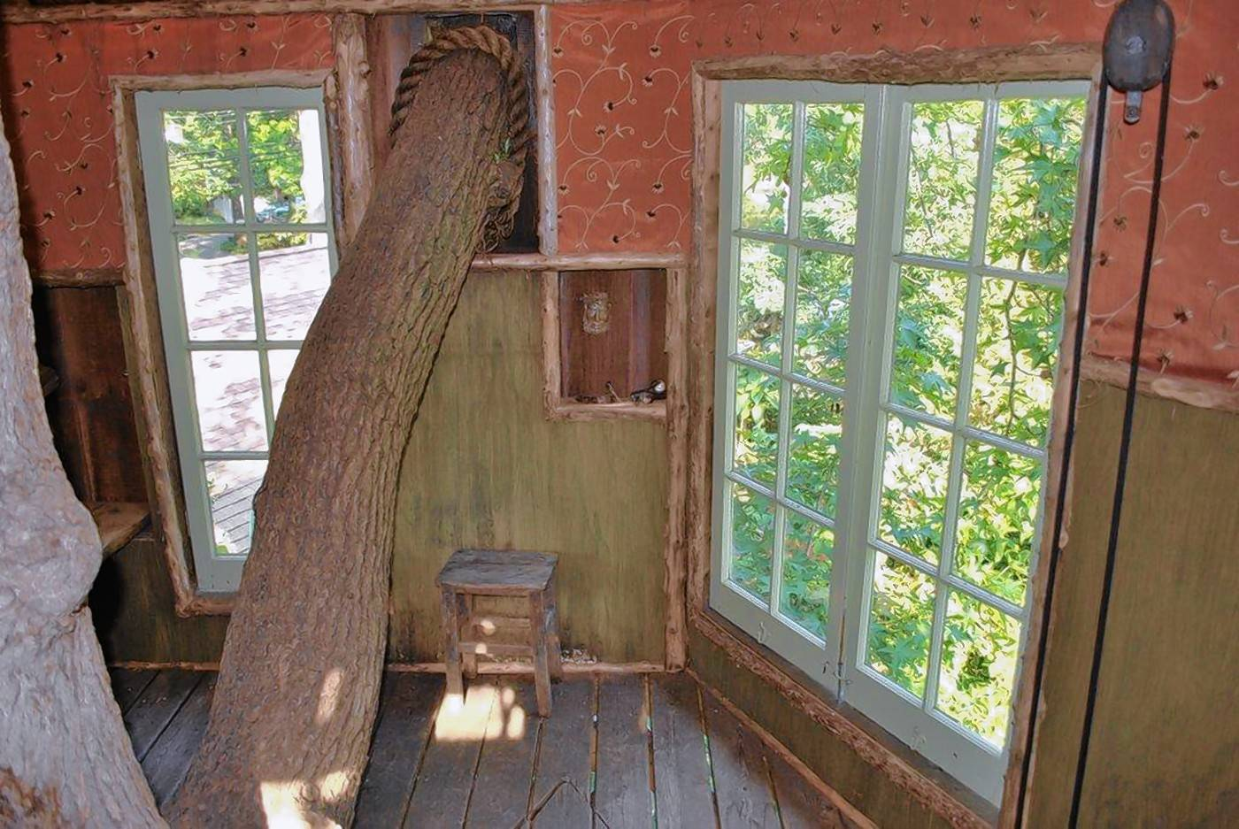 The tree house shows off Pierre Moitrier's skills as a craftsman and offers an aerial view of a distinctive, personal garden 15 years in the making.