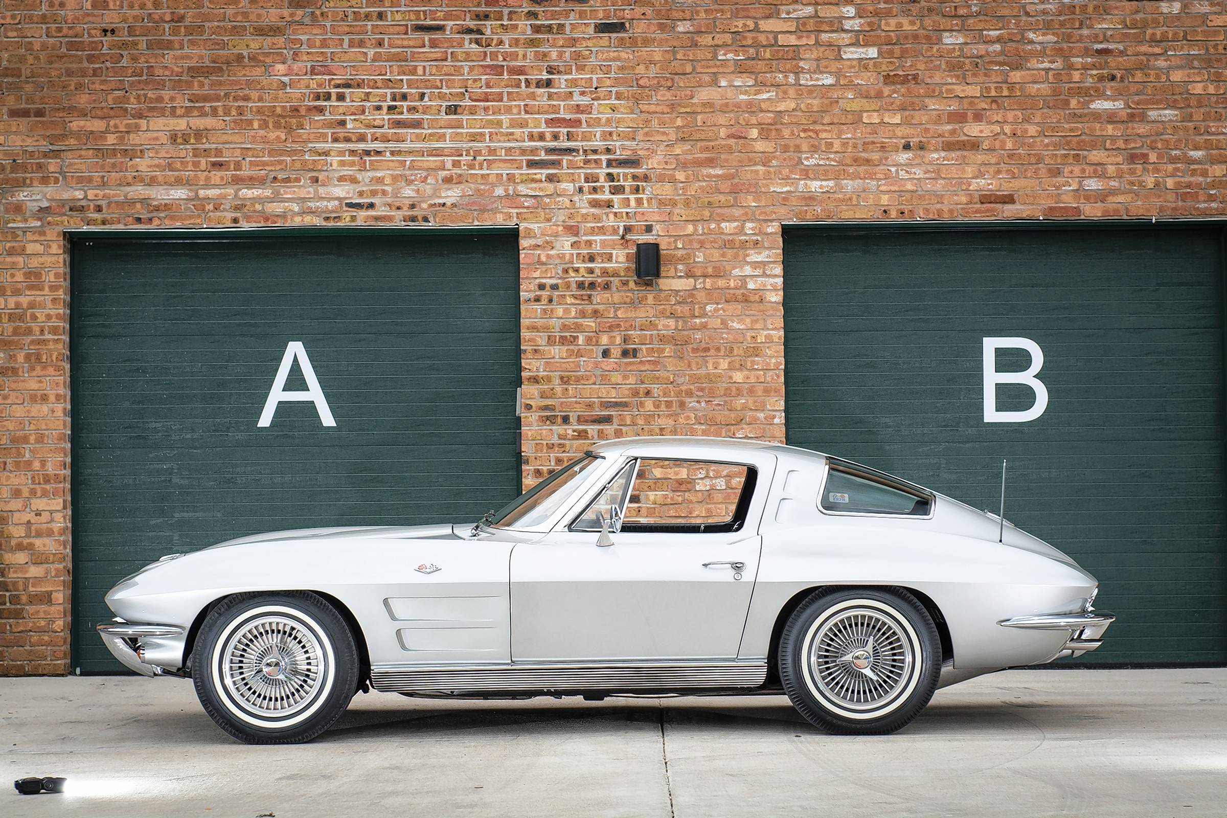 The 1963 split window Chevrolet Corvette is often considered one of the most beautiful car designs of all time.