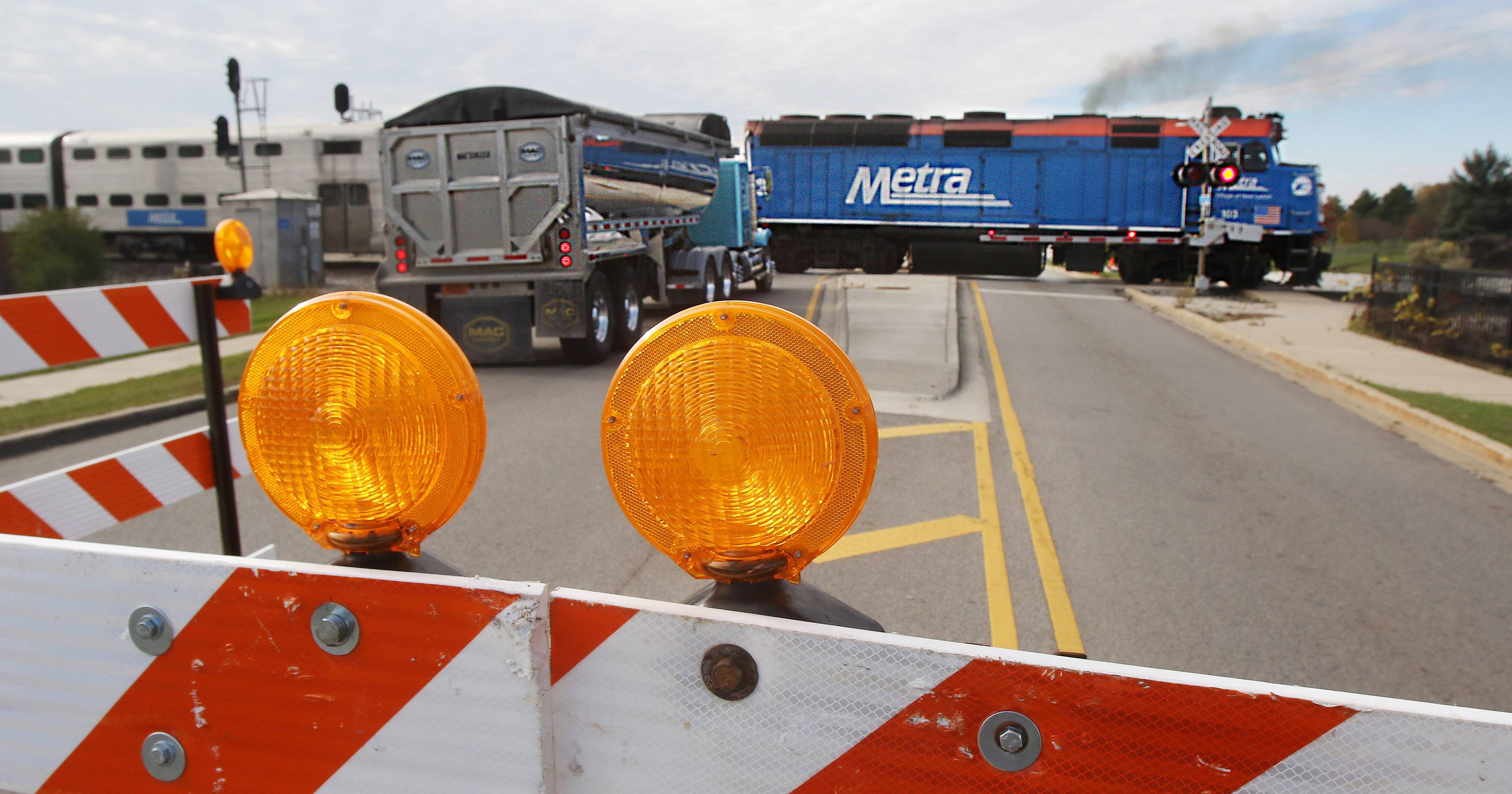 Hook Drive near Route 83 in Round Lake Beach is closed as construction crews from the Wisconsin Central Ltd. Railroad worked on the railroad crossing. The work began Monday and is scheduled to be complete Nov. 15.