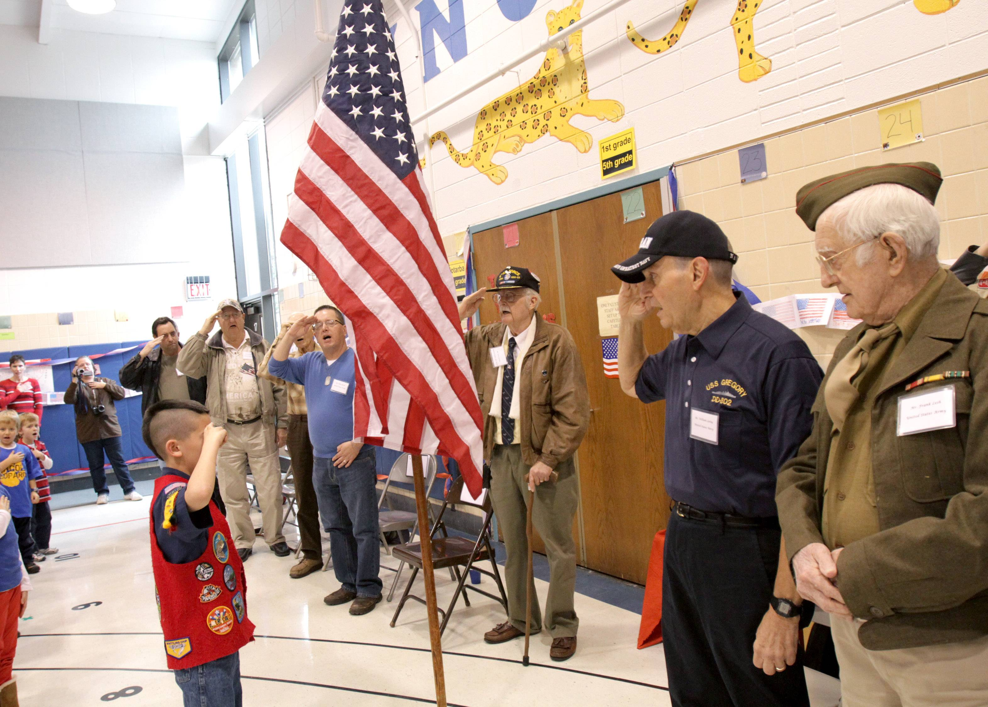 Schools all over DuPage County will teach students about military service this week by welcoming veterans to assemblies.