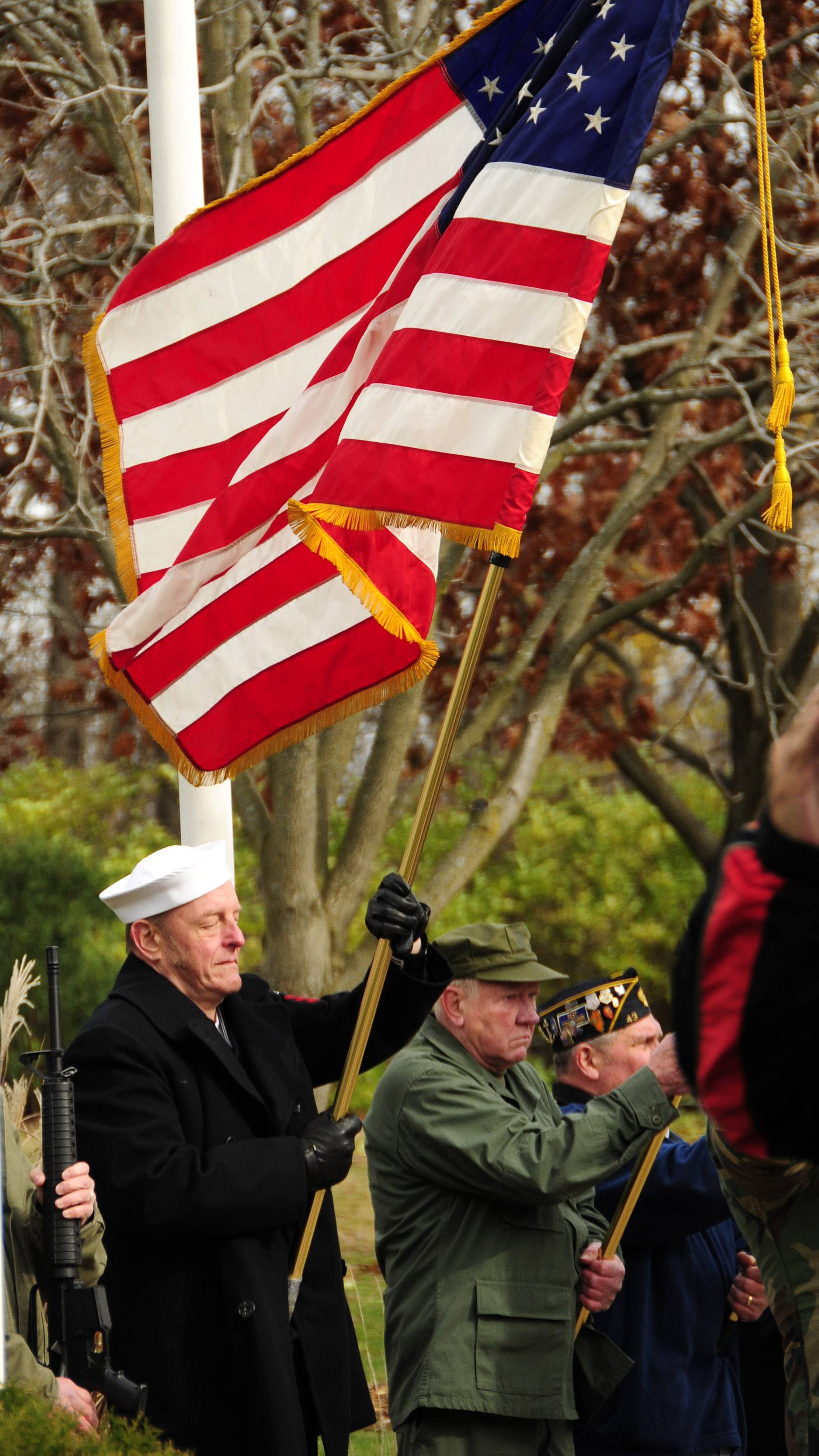 With flag ceremonies, 21-gun salutes and the playing of taps, communities throughout the area will show their gratitude for veterans' service.