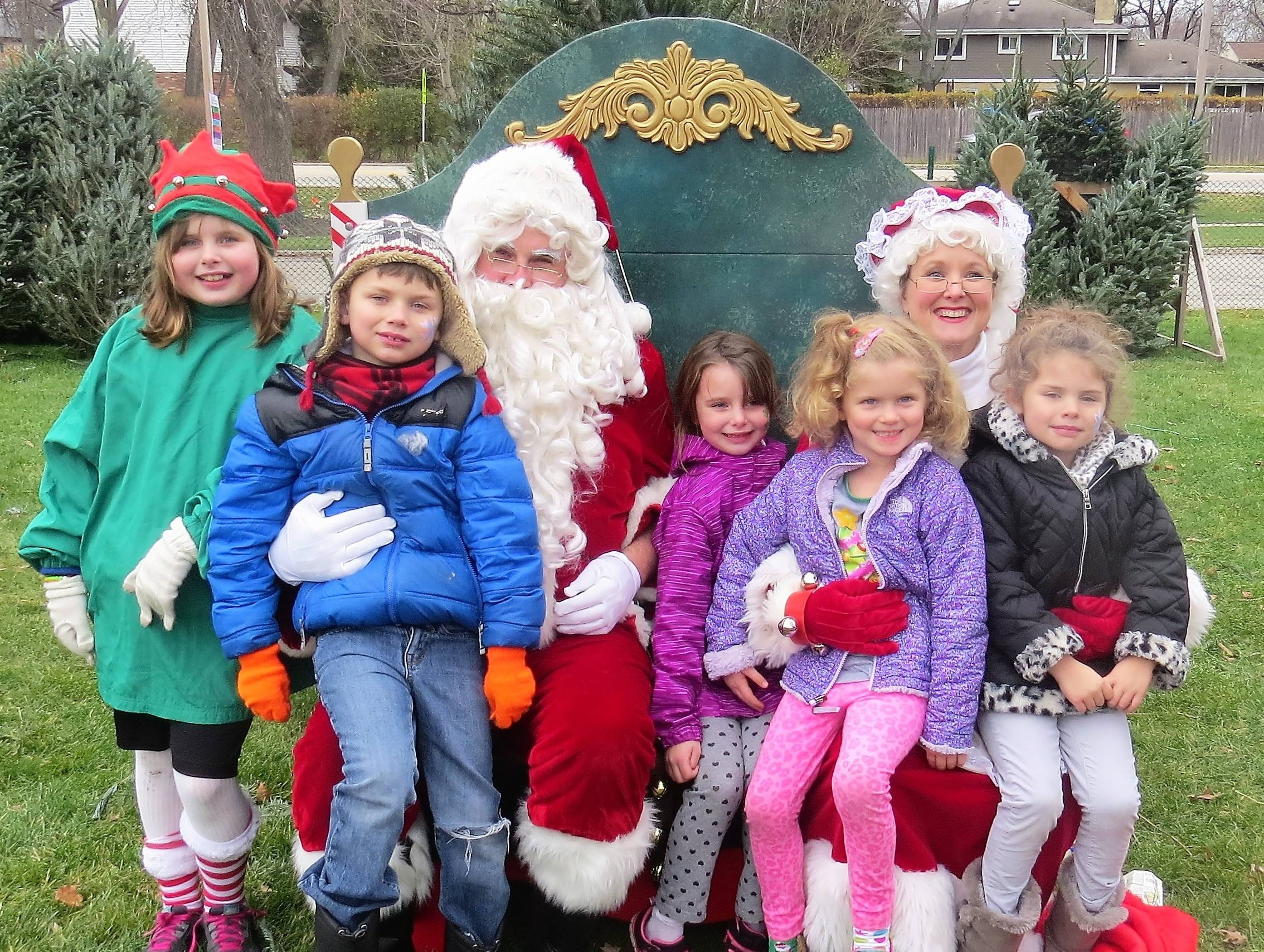 Santa and Mrs. Claus will pose for free family pictures at the North Suburban YMCA's Holiday Extravaganza on Sunday, December 10. Creative Marketing Associates