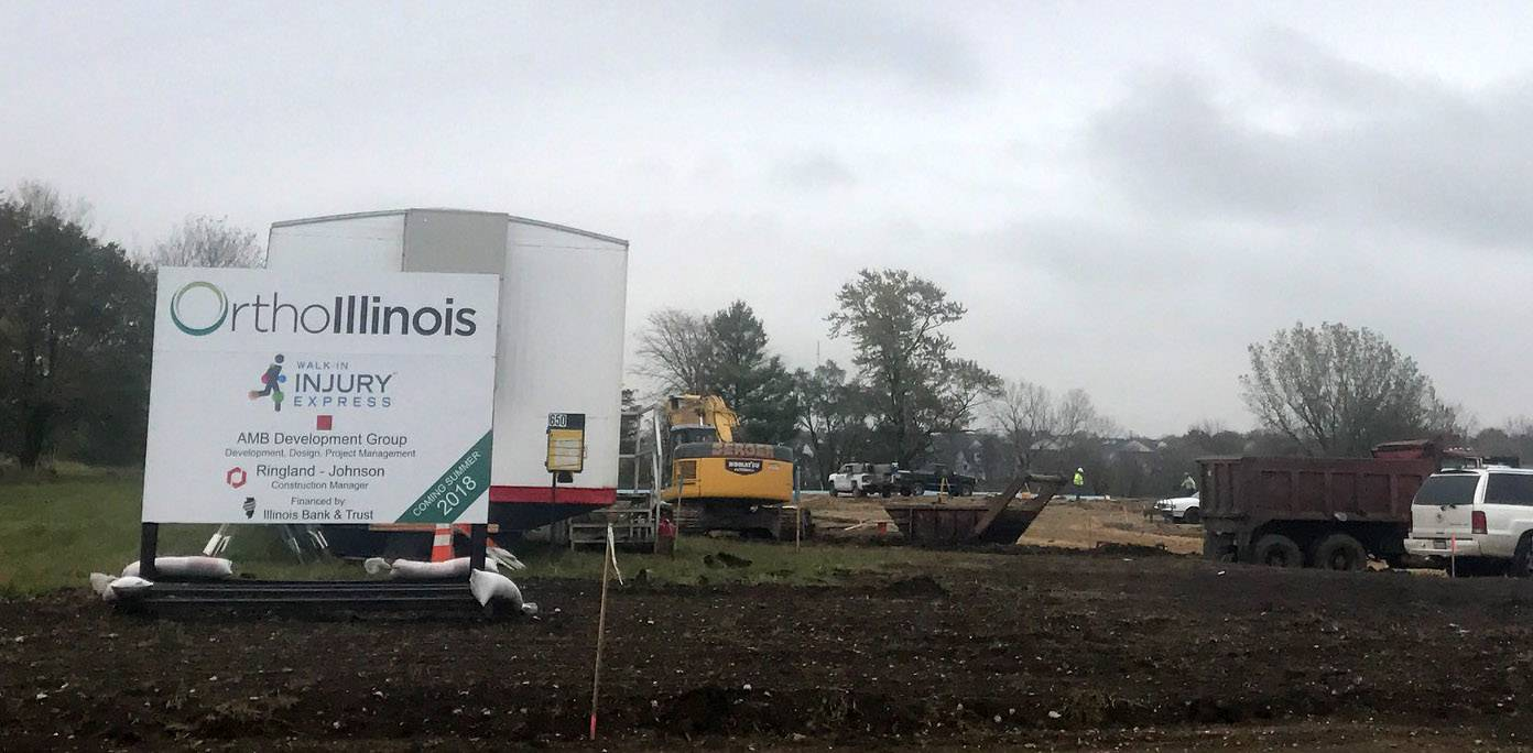 A new OrthoIllinois orthopedic center is under construction at 650 S. Randall Road in Algonquin. It is expected to open in September 2018.
