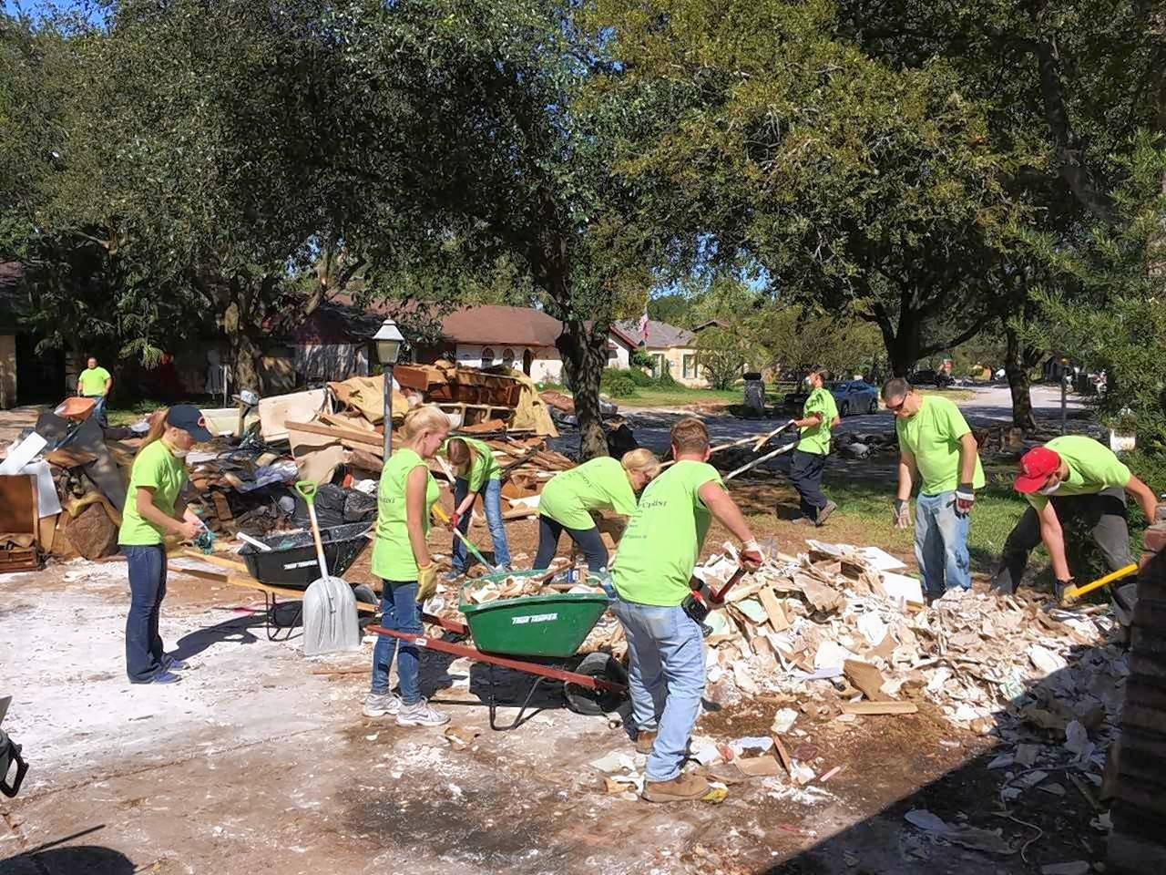 The Orchard volunteer team in action in Houston, Texas.