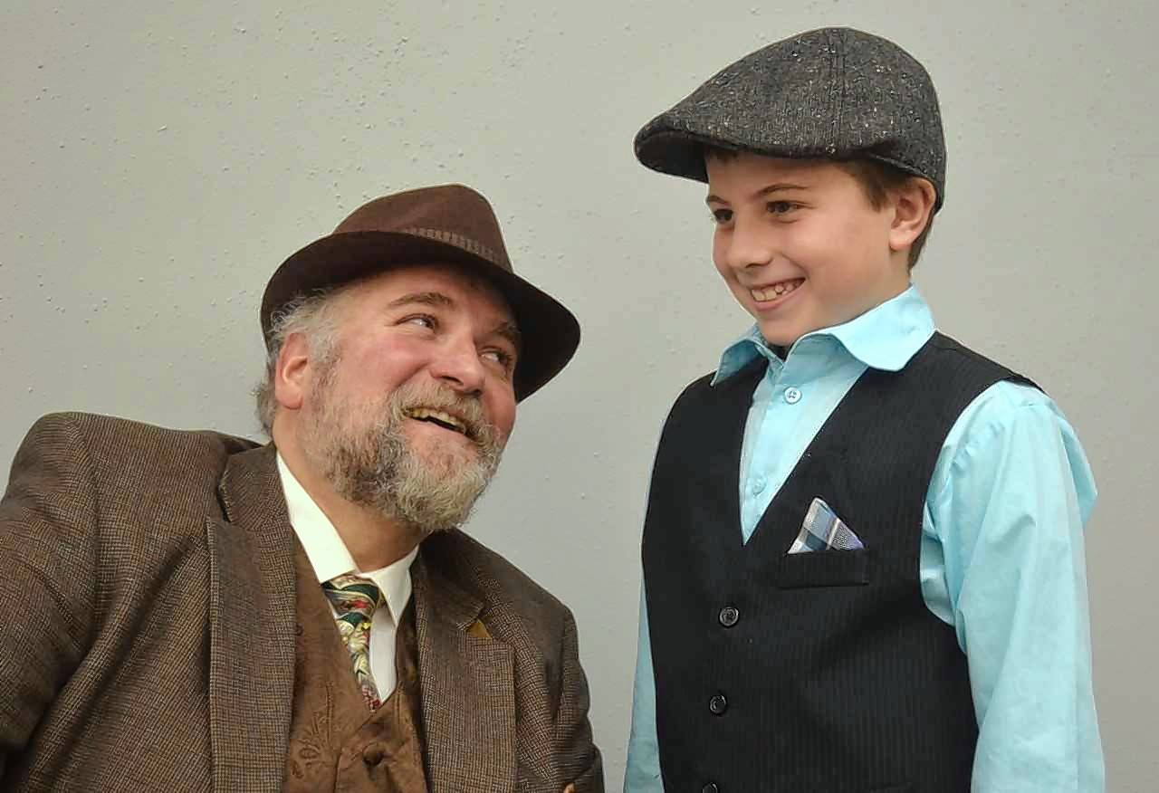 "Elgin Theatre Company will present ""An Elgin Old Tyme Holiday Radio Show"" Nov. 10-19 at the Elgin Art Showcase. From left are John Di Leo and Lucas Harrington, who appear in ""Miracle on 34th Street."""