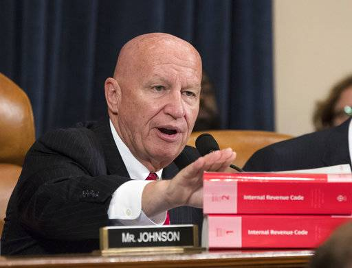 House Ways and Means Committee Chairman Kevin Brady, R-Texas, makes a statement as his panel begins the markup process of the GOP's far-reaching tax overhaul as members propose amendments and changes to shape the first major revamp of the tax system in three decades, on Capitol Hill in Washington, Monday, Nov. 6, 2017. (AP Photo/J. Scott Applewhite)
