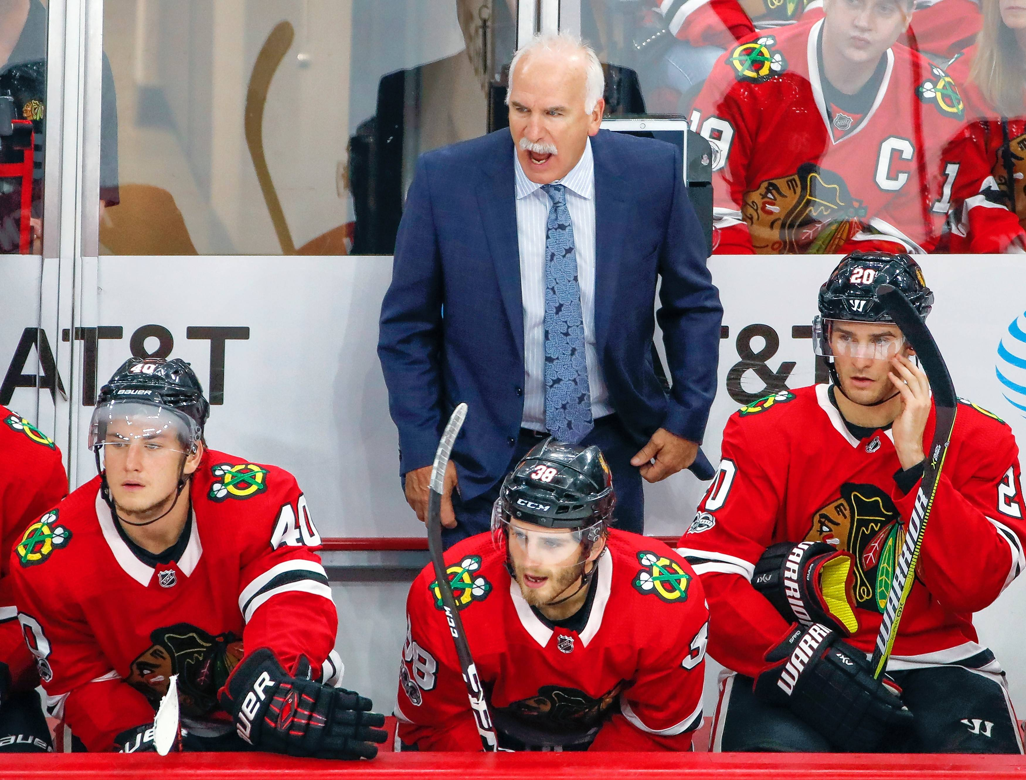 "Chicago Blackhawks head coach Joel Quenneville says his team's ""patience level and play recognition has been very poor."""