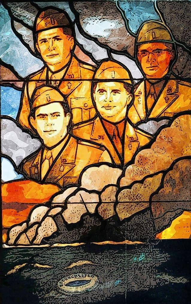 "On Sunday, Nov. 12, St. James Episcopal Church will be honoring ""The Four Chaplains"" who saved soldiers lives in World War II. A special window in the Pentagon Chapel honors the four U.S. Army chaplains."