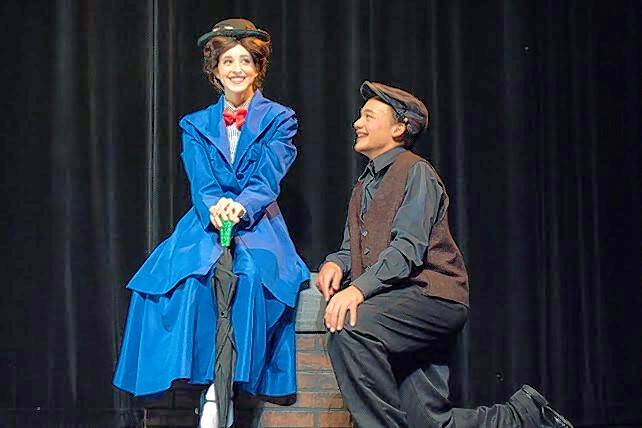 "Westminster Christian School will present ""Mary Poppins"" at the Hemmens in Elgin. From left are Brynn Maxwell as Mary Poppins with Jonathan Franco as Bert the chimney sweep."