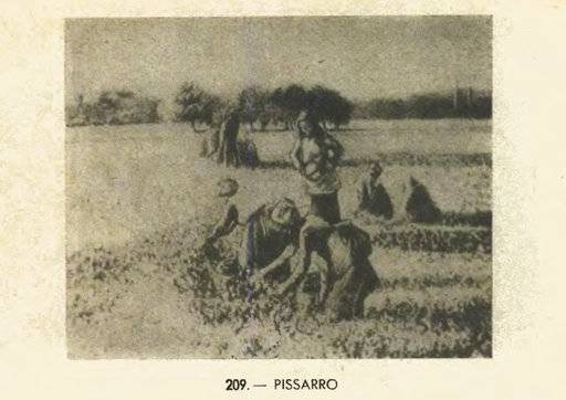 "This undated picture, part of a post WWII French government inventory of property looted in France by the Germans, provided by the French culture ministry shows a Pissarro painting : ""La Cueillette des Bois,"" or ""Picking Peas,"" painted by impressionist master in 1887. A Paris court has ordered an American couple to return a valuable Pissarro painting looted during World War II to the descendants of a French family who owned it at the time. (French Culture Ministry via AP)"