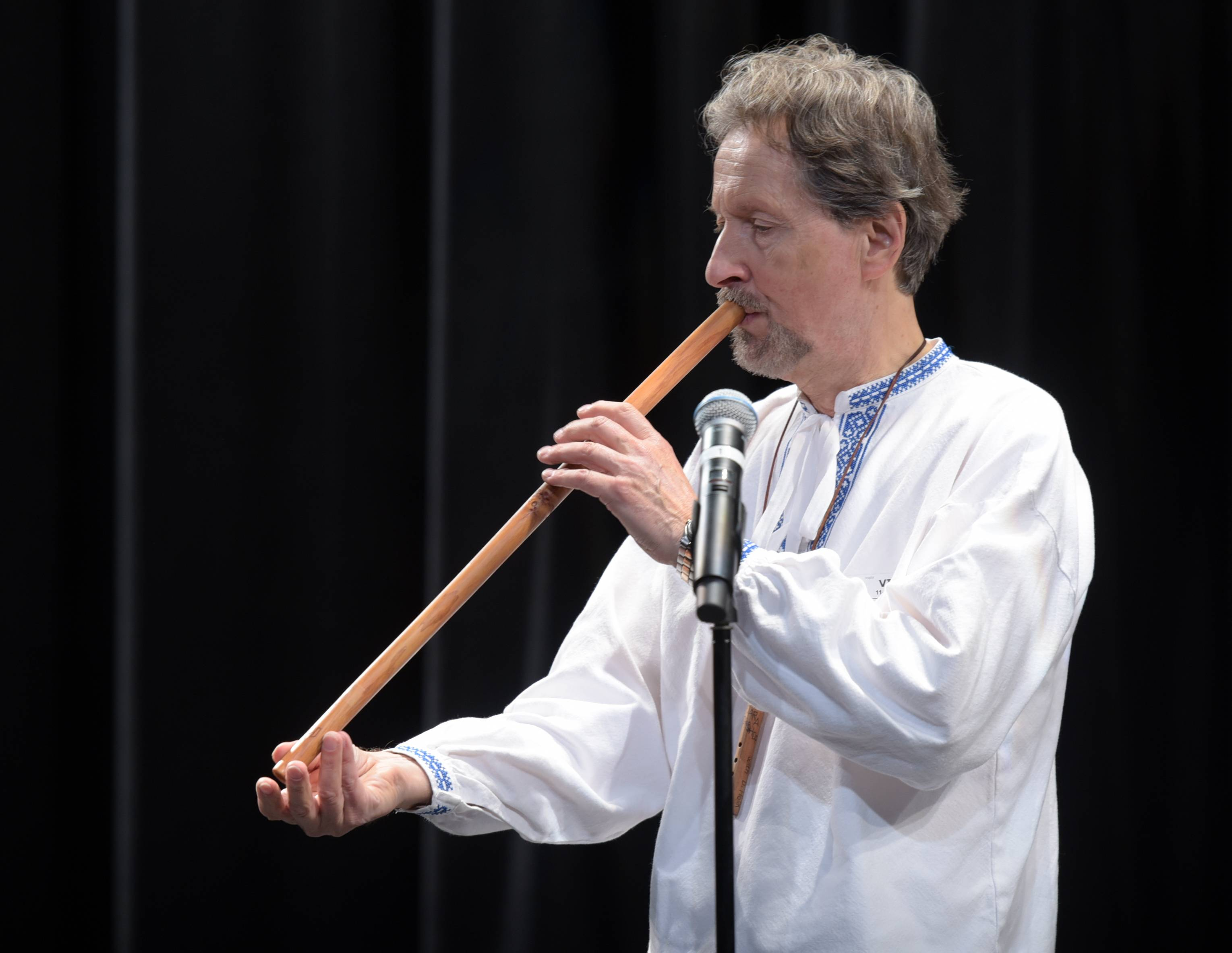 Bob Rychlik, a Slovakian folk musician, performs Wednesday for music students at Naperville North High School. The concert was part of a visit arranged through the Naperville Sister Cities commission and its partnership with Nitra, Slovakia.