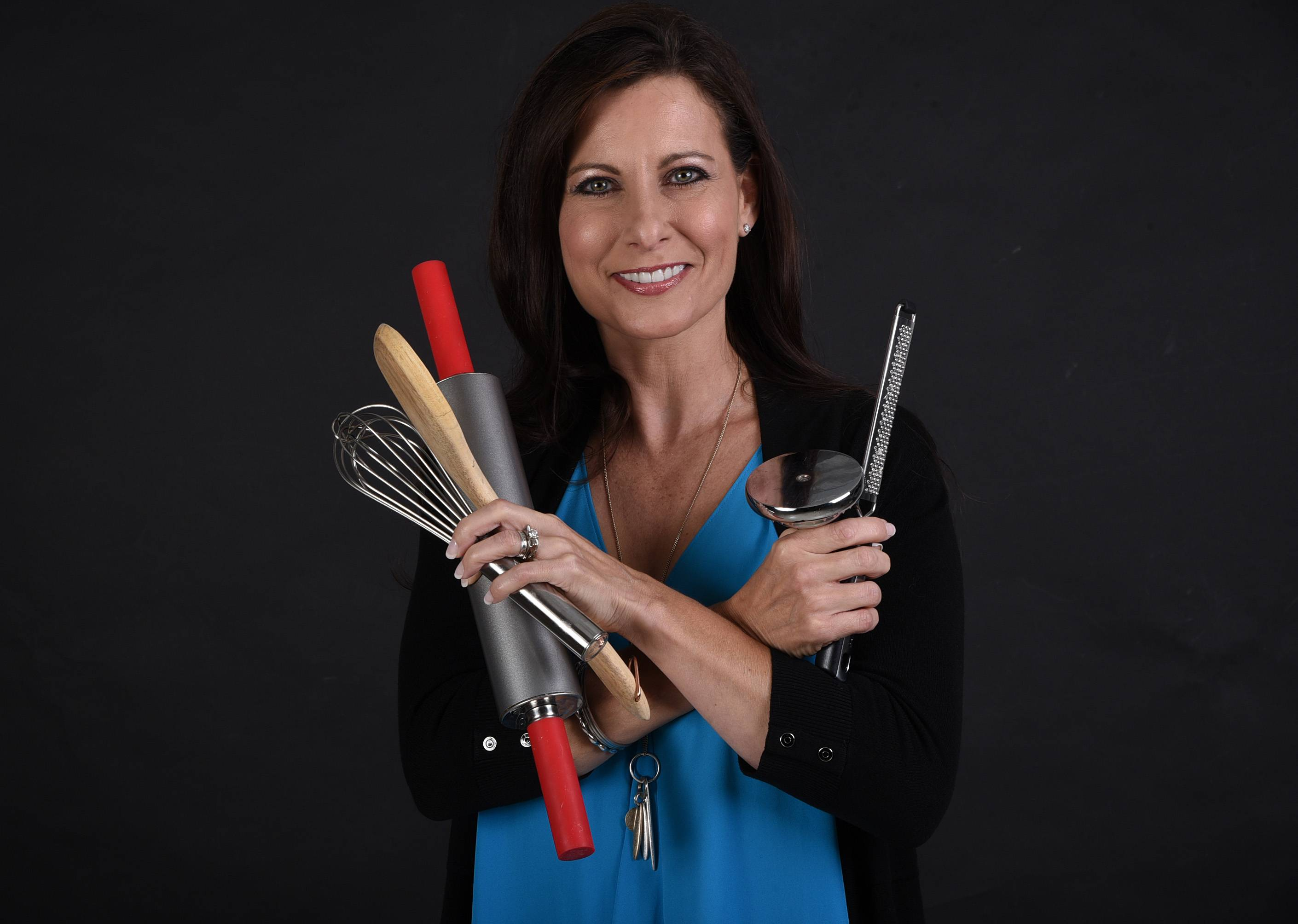 Cook of the Week Challenge finalist Elizabeth Schuttler of Inverness has cooking tools at the ready for the Monday, Nov. 13, live cook-off.