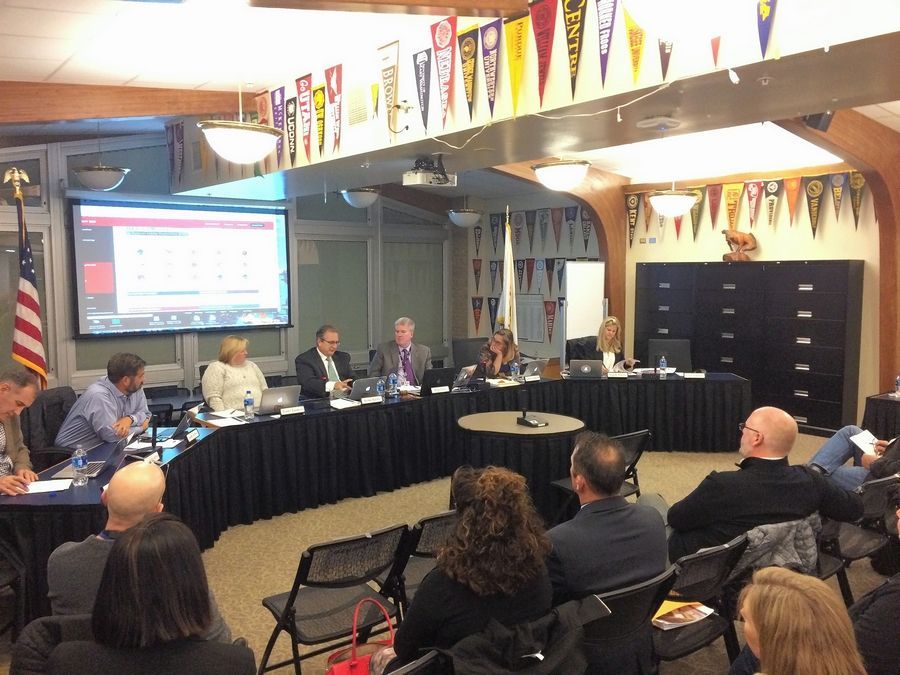 Barrington Area Unit District 220 board members held a panel discussion Tuesday night about future school renovations. The initiative is called Blueprint 220.