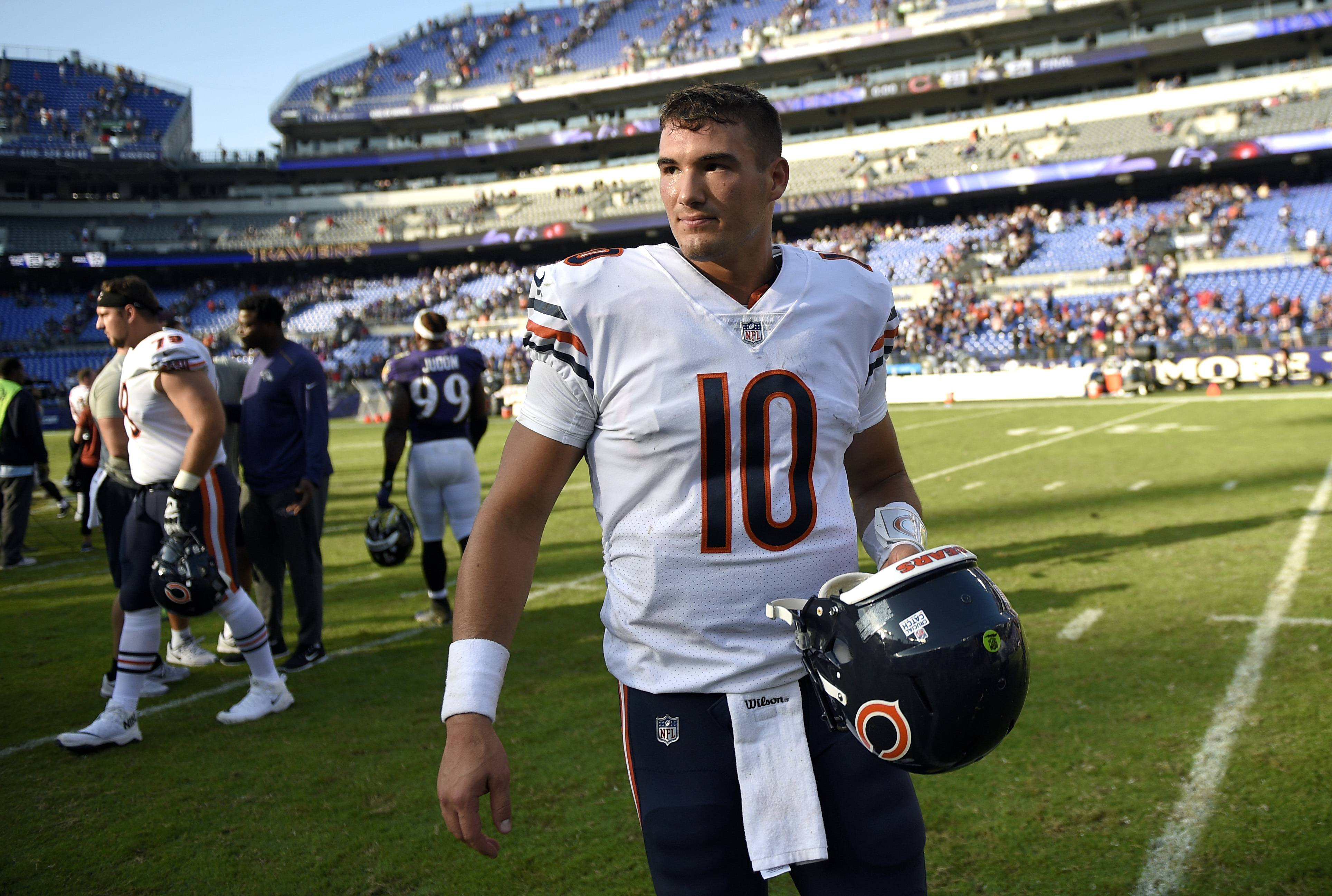 Chicago Bears' Trubisky working to get in synch