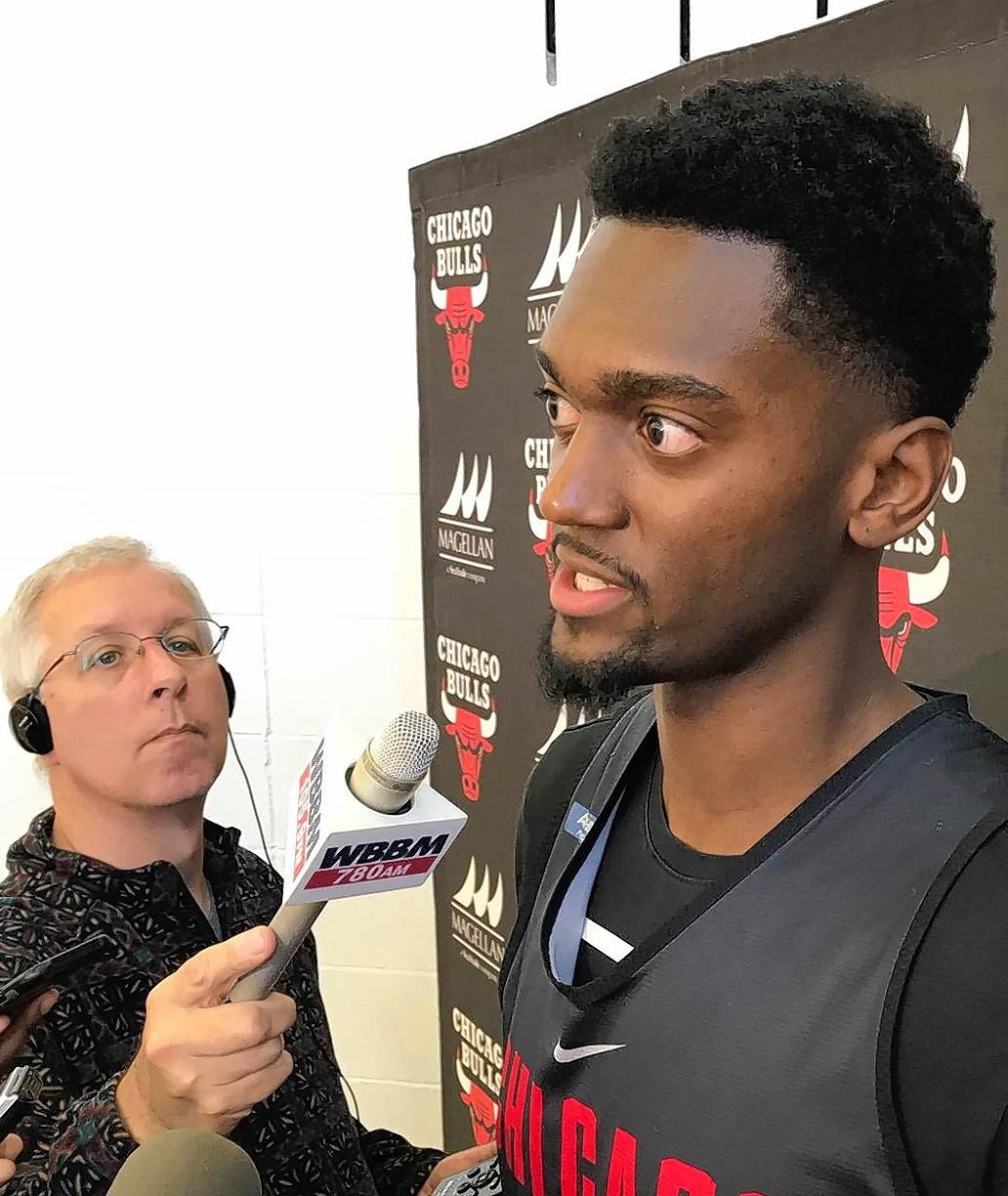 Chicago Bulls forward Bobby Portis says he's happy to be back and playing basketball again. Portis had 21 points and 13 rebounds Tuesday in Toronto in his first game after serving an eight-game suspension.