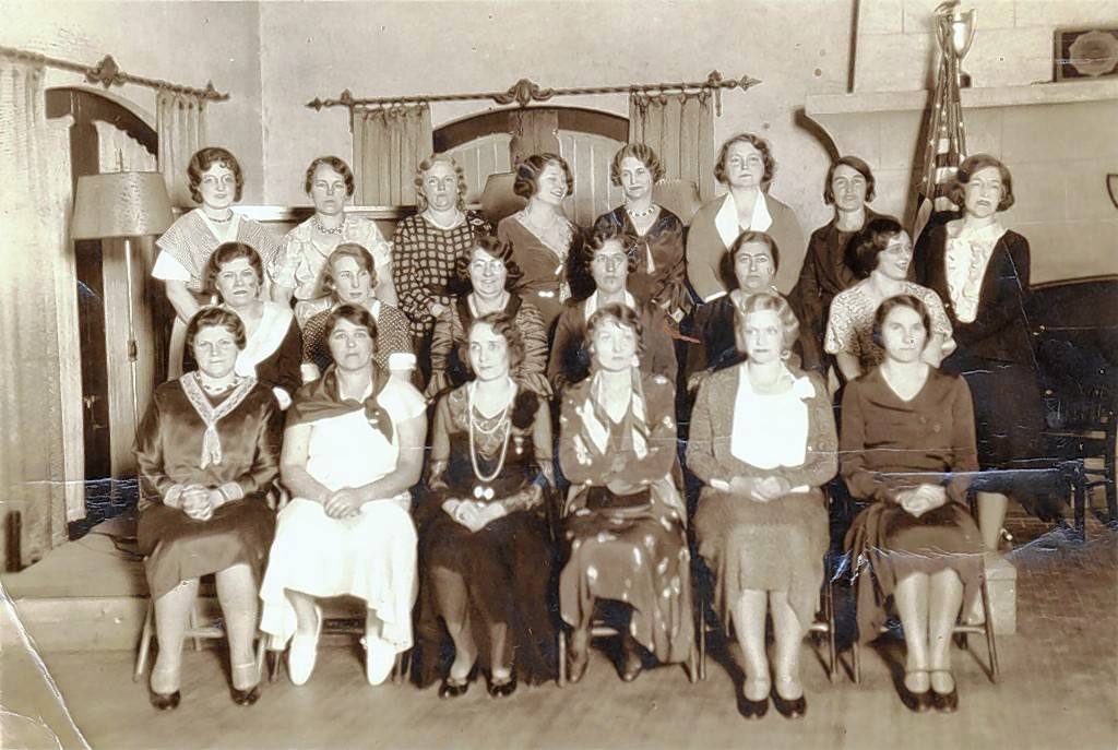 This circa 1930s photo shows the American Legion Auxiliary of Mount Prospect at a gathering at the country club.