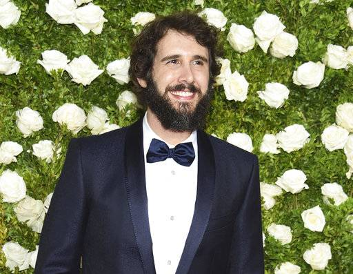 "FILE - In this June 11, 2017, file photo, Josh Groban arrives at the 71st annual Tony Awards at Radio City Music Hall in New York. Netflix said Wednesday, Nov. 8, that Groban will play a straight-laced New York City detective on ""The Good Cop."" (Photo by Evan Agostini/Invision/AP, File)"