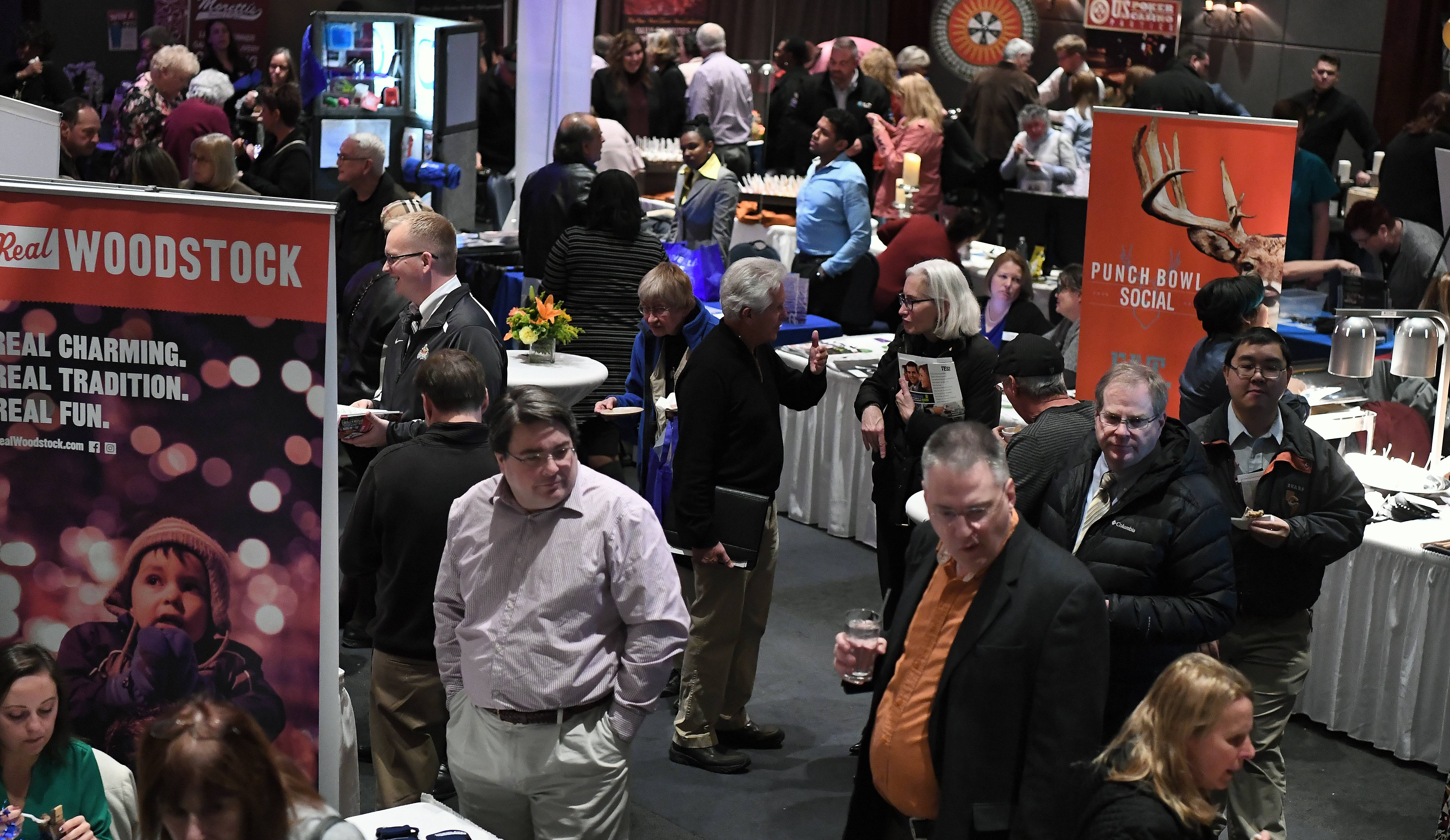 Mark Welsh/mwelsh@dailyherald.comFull house of business people at the Daily Herald Business Ledger Hospitality Expo Northwest in Hoffman Estates on Thursday.