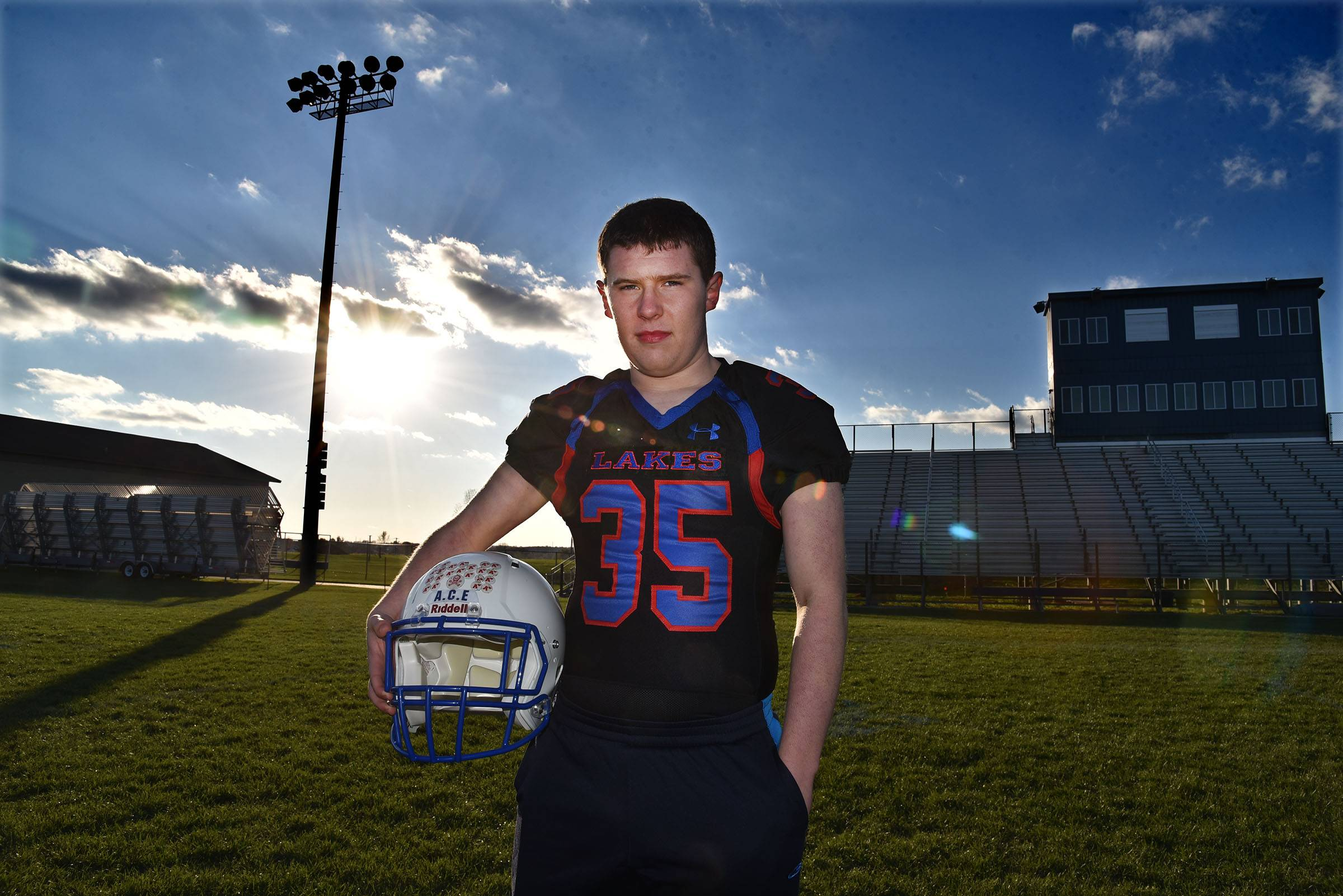 Zach Damenti played varsity football at Lakes High School in Lake Villa. He was diagnosed with autism as a child.