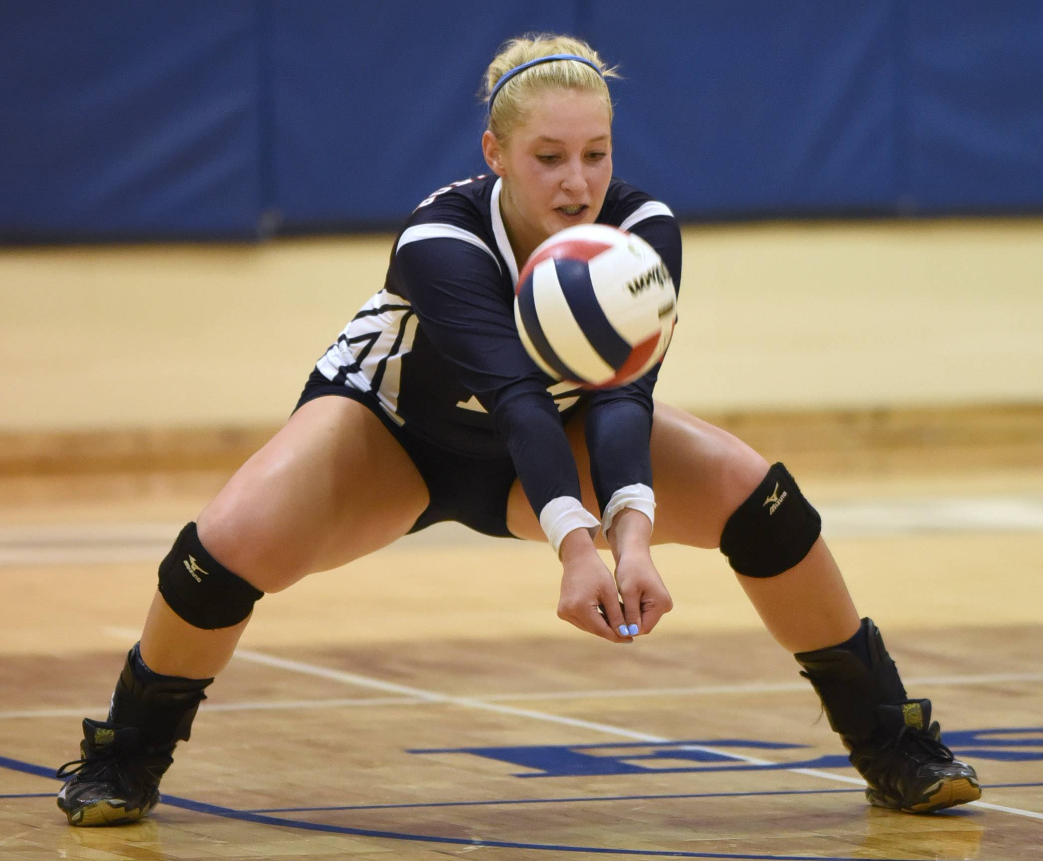 Carrie Leazer has helped St. Viator to a first-ever state appearance in girls volleyball.