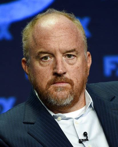 "FILE - In this Aug. 9, 2017 file photo, Louis C.K., co-creator/writer/executive producer, participates in the ""Better Things"" panel during the FX Television Critics Association Summer Press Tour in Beverly Hills, Calif. The New York premiere of Louis C.K.'s controversial new film ""I Love You, Daddy� has been canceled amid swirling controversy over the film and the comedian. (Photo by Chris Pizzello/Invision/AP, File)"