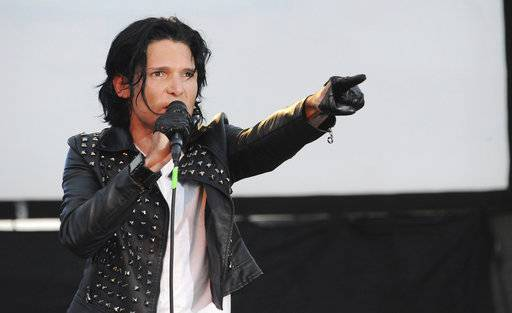 FILE - In this May 25, 2013, file photo, Corey Feldman performs in Los Angeles. The Los Angeles Police Department says it is no longer investigating sexual assault claims filed by actor Feldman. The LAPD said in a statement Thursday, Nov. 9, 2017, that the events were so long ago that the statute of limitations has expired on Feldman's allegations and detectives have no further avenues to pursue. (Photo by Katy Winn/Invision/AP, File)