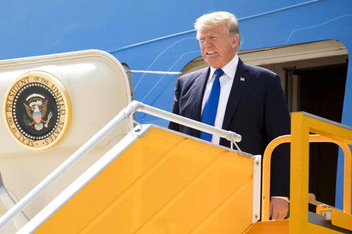 President Donald Trump arrives at Danang International Airport, Friday, Nov. 10, 2017, in Danang, Vietnam. Trump is on a five country trip through Asia traveling to Japan, South Korea, China, Vietnam and the Philippines. (AP Photo/Andrew Harnik)