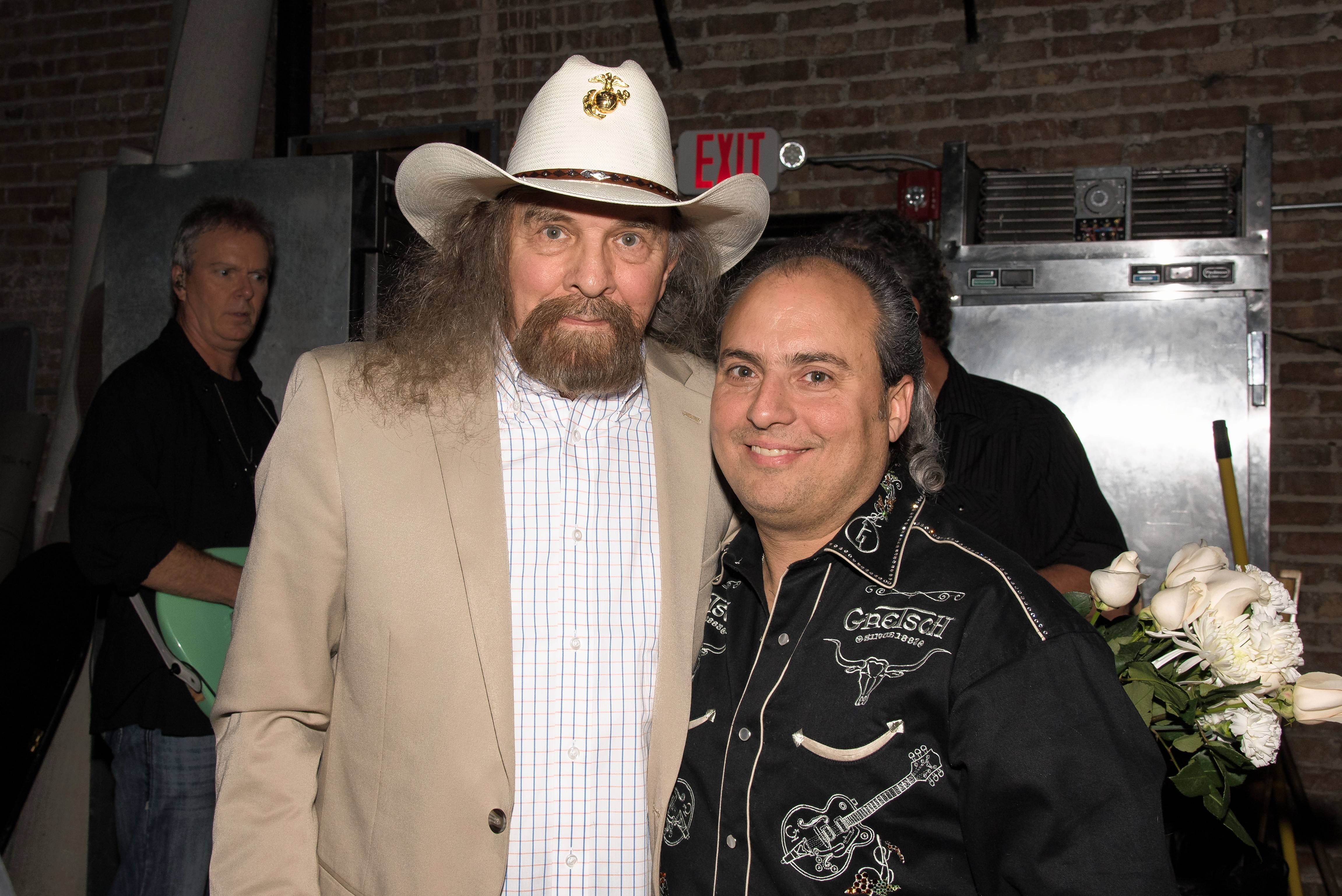 Drummer Artimus Pyle and Ron Onesti, right, recently commemorated the 40th anniversary of the plane crash that took the lives of three members of the Southern rock band Lynyrd Skynyrd. Pyle is one of 20 survivors of that crash.