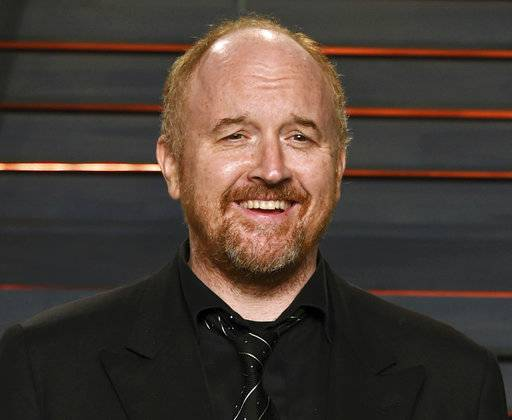"FILE - In this Feb. 28, 2016 file photo, Louis C.K. arrives at the Vanity Fair Oscar Party in Beverly Hills, Calif. The New York premiere of Louis C.K.'s controversial new film ""I Love You, Daddy� has been canceled amid swirling controversy over the film and the comedian. (Photo by Evan Agostini/Invision/AP, File)"