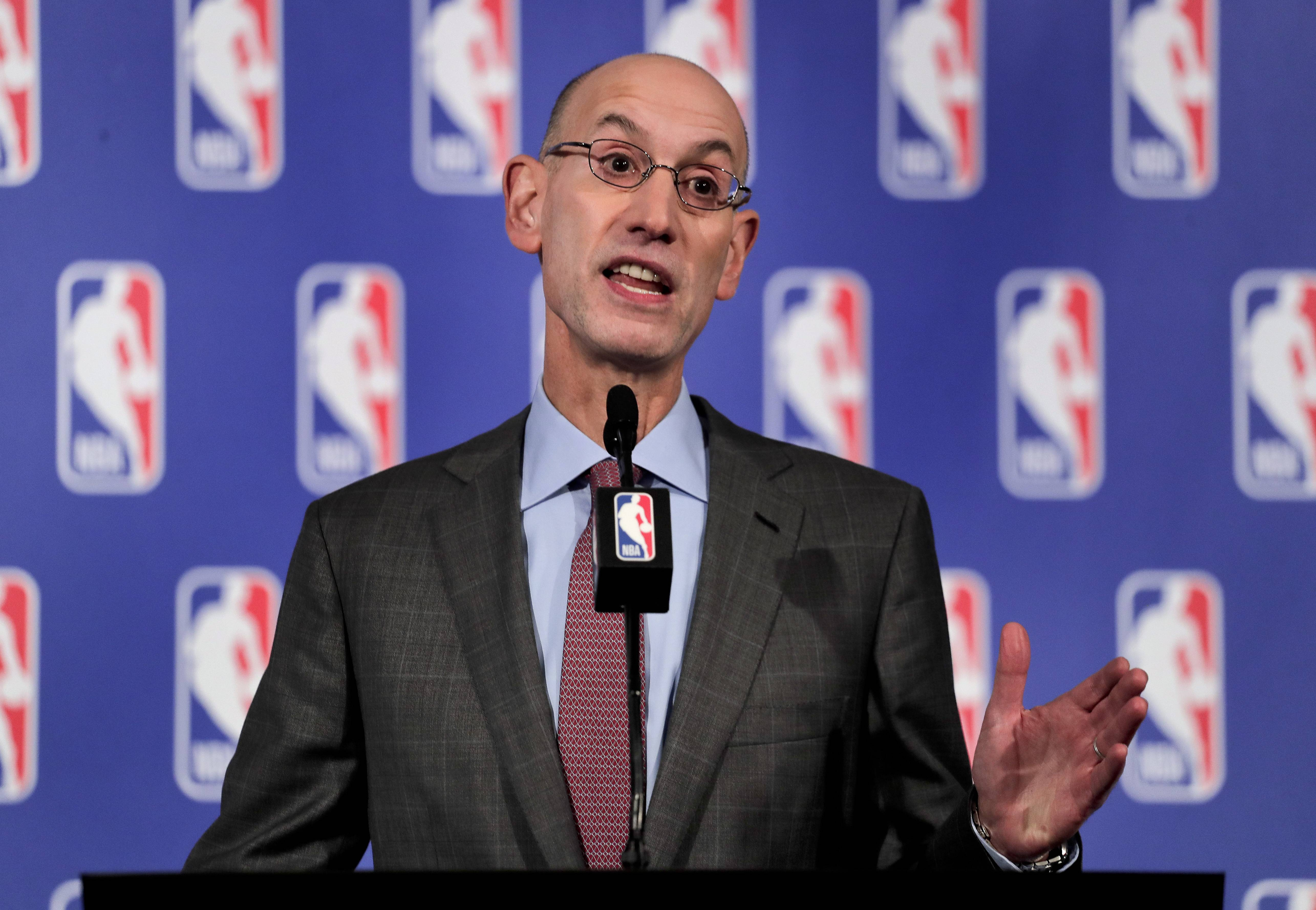 "NBA Commissioner Adam Silver officially named Chicago as the host of the 2020 NBA All-Star Game on Friday. Silver praised Chicago, saying the city is ""iconic when it comes to sports."""