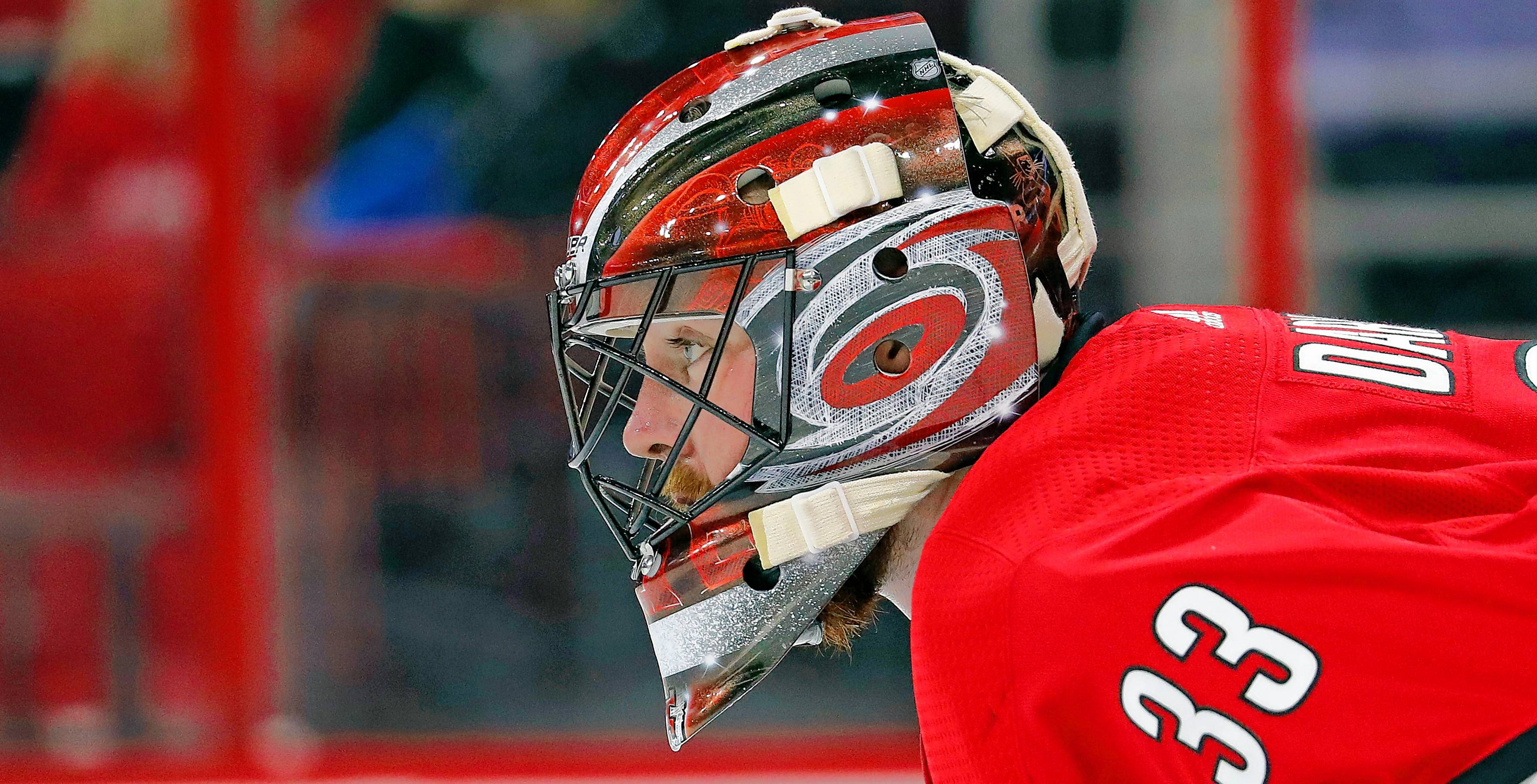 Scott Darling is about to face the Blackhawks for the first time since signing with Carolina last May. It's a game he's looking forward to, but also one that figures to be an emotional one for an emotional guy.