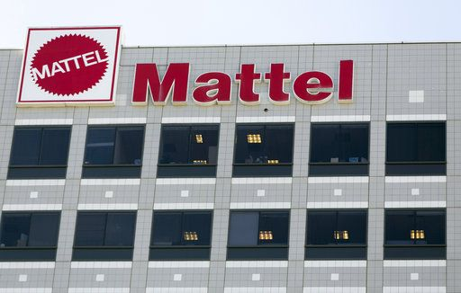 FILE - This Wednesday, Feb. 24, 2016, file photo, shows a building on the campus of toymaker Mattel, Inc., in El Segundo, Calif. Shares of Mattel soared in after-hours trading Friday, Nov. 10, 2017, after a report that rival Hasbro has made a takeover offer for Mattel. Such a deal could bring together well-known brands like Monopoly, Nerf, Barbie and Hot Wheels.