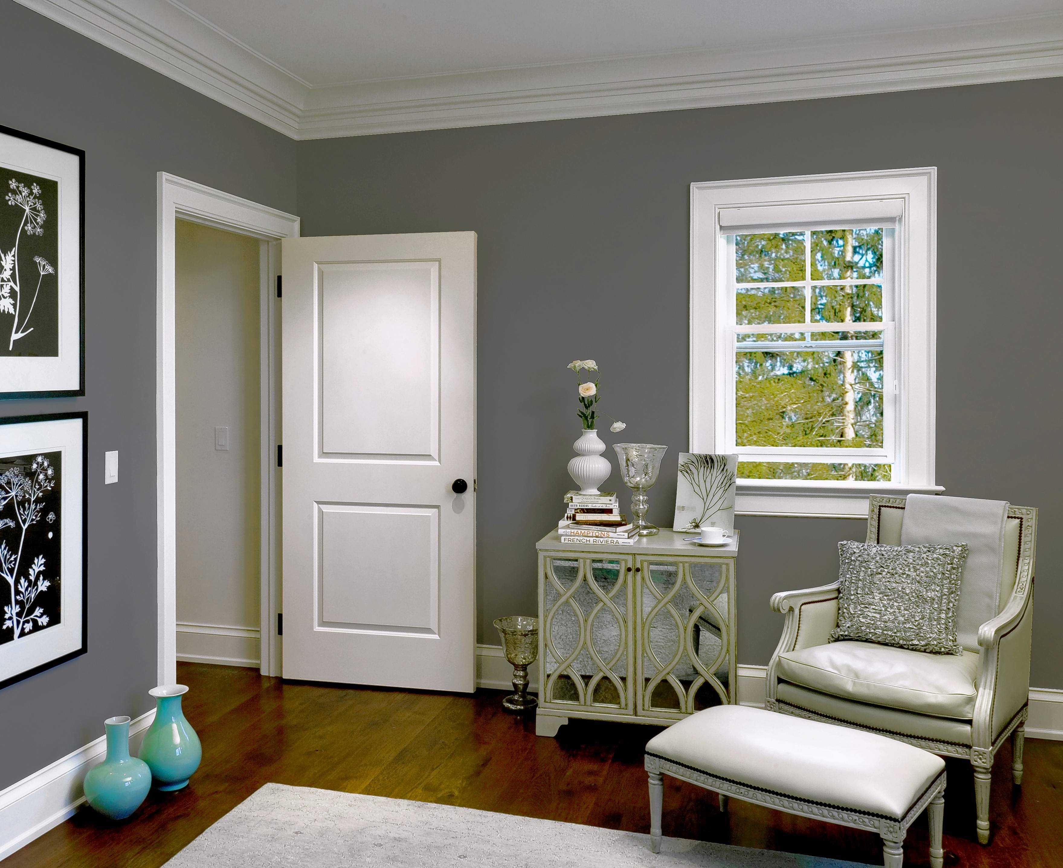 Two-panel doors are a popular selection for their simplicity and clean lines.