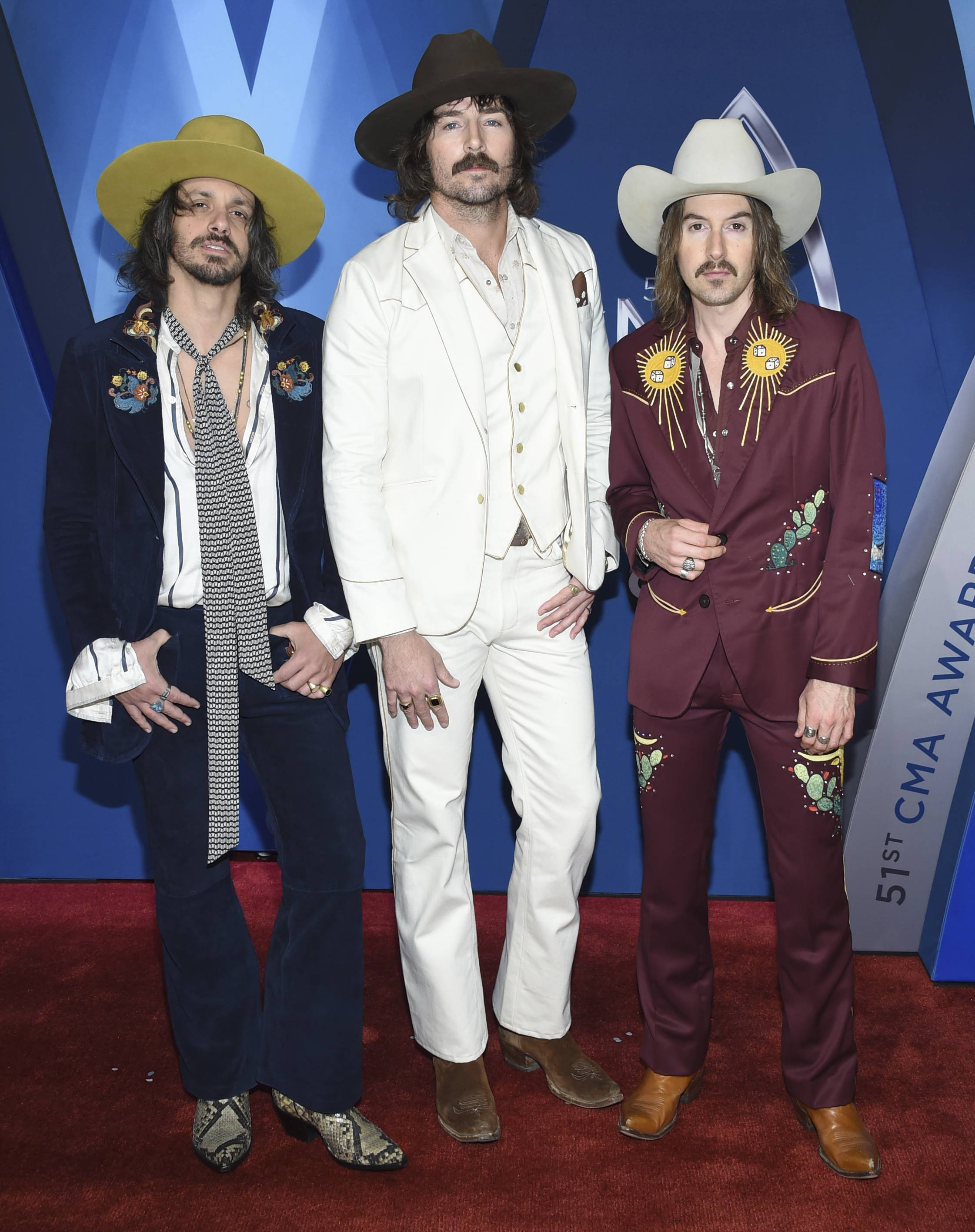 Midland -- Cameron Duddy, left, Mark Wystrach and Jess Carson -- were at the 51st annual CMA Awards on Wednesday in Nashville, Tenn. They play Chicago Nov. 16 and Rosemont Nov. 17.