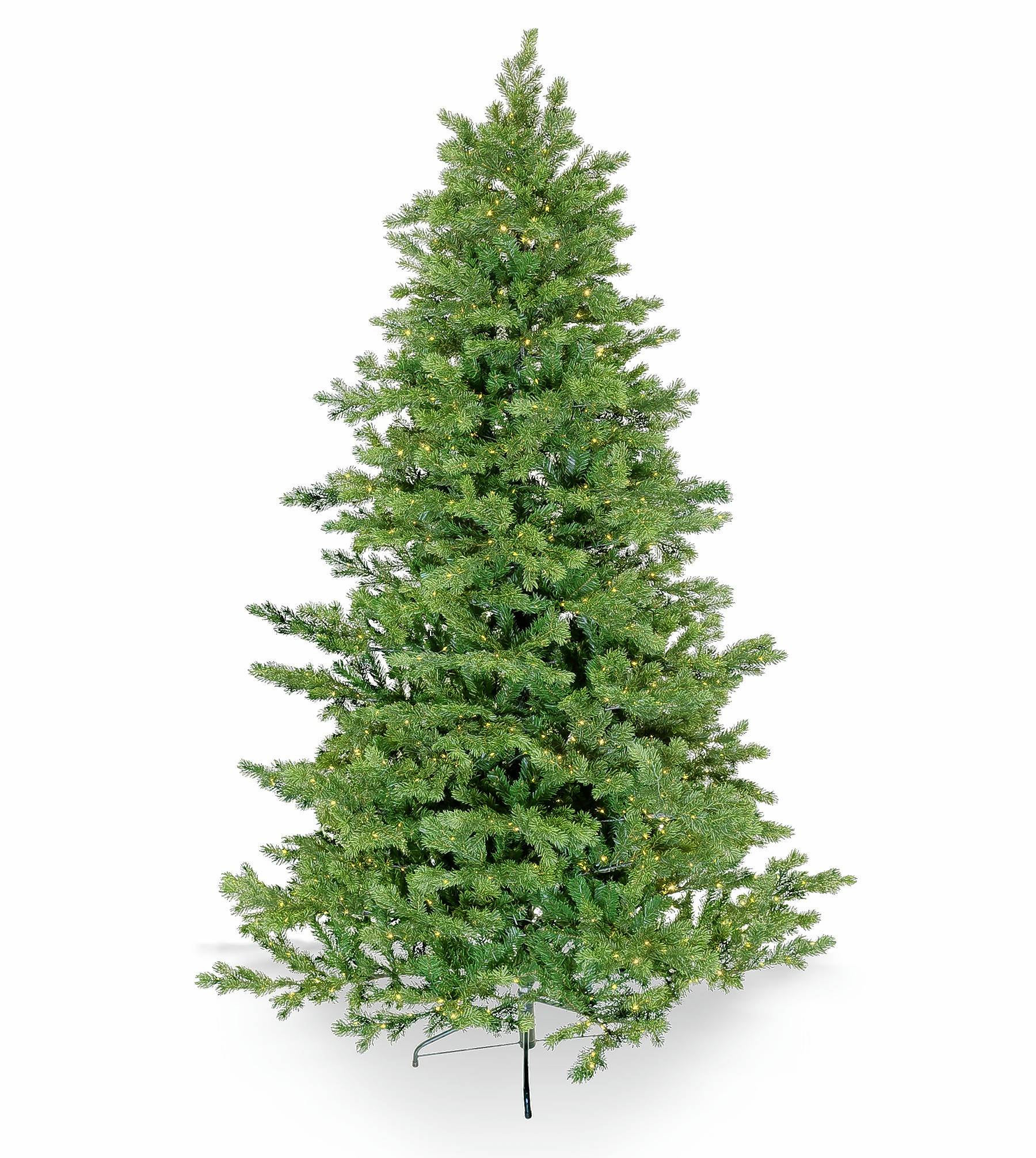 The 7½-foot Freeman Fir artificial Christmas tree has 1,500 LED lights.