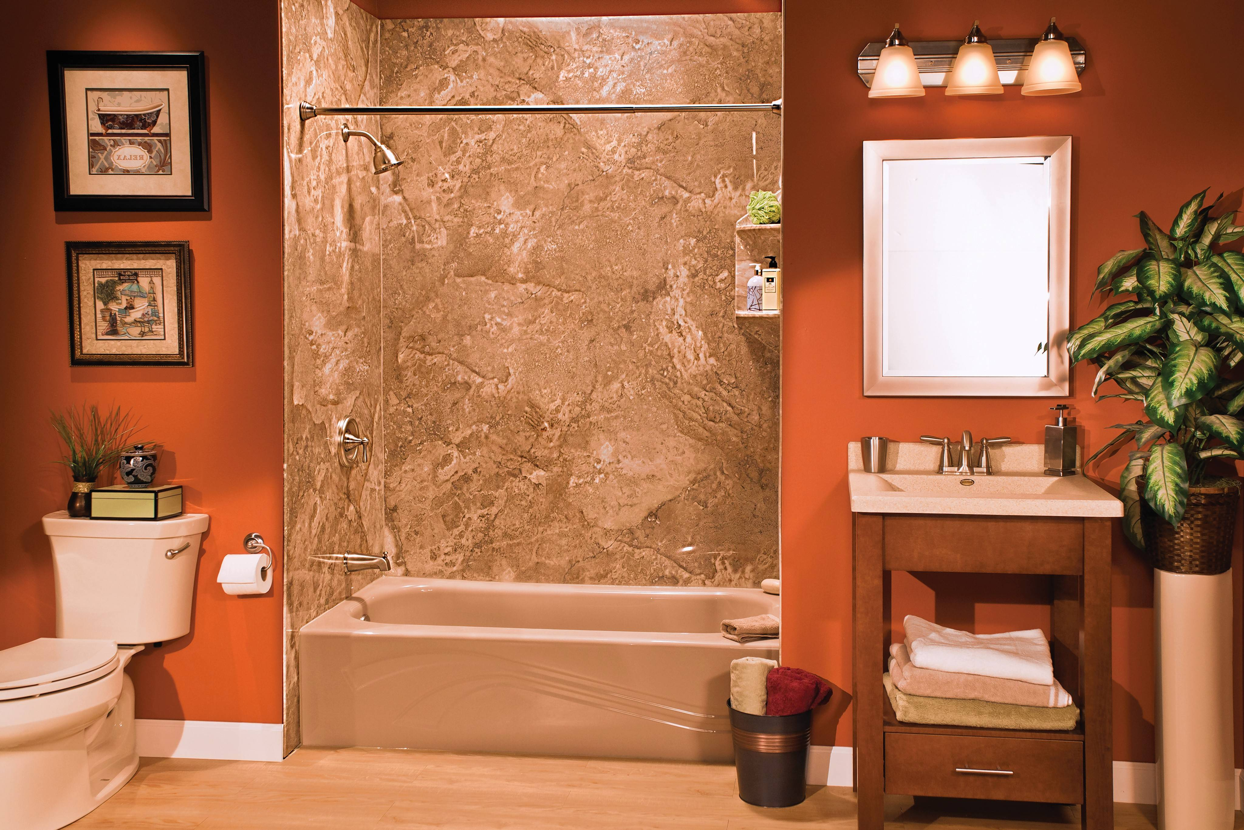 Bath Planet's acrylic products feature the elegant look of ceramic tile, granite or marble.
