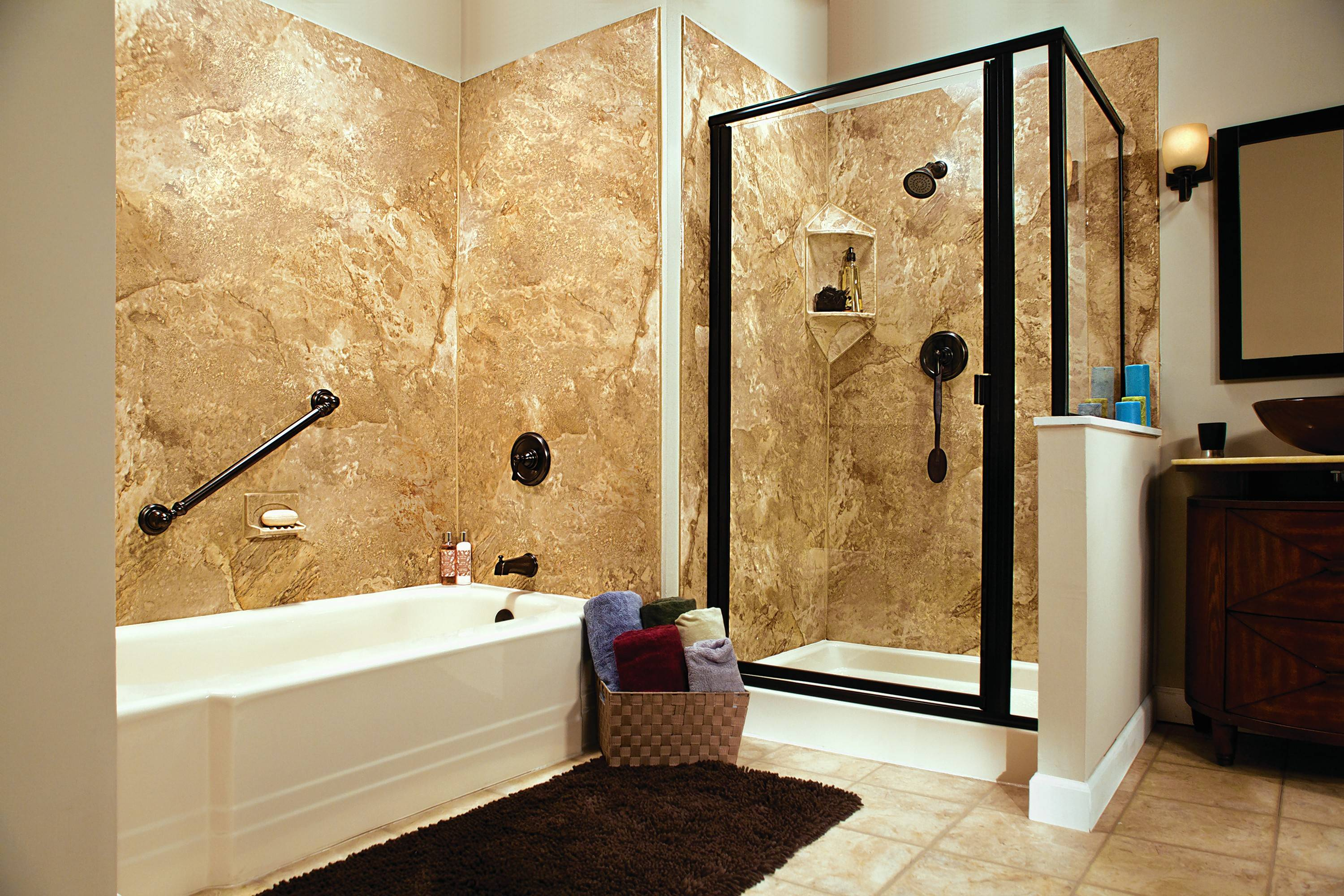 Want a new tub or a walk-in shower? Why not both.