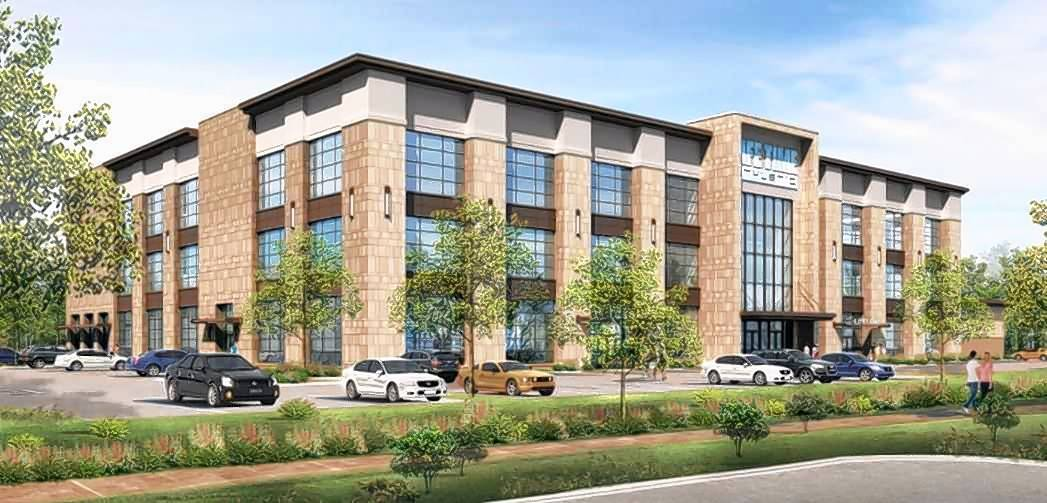 A rendering of the proposed three-story, 125,000-square-foot health club Life Time Fitness is proposing for the former Hackney's restaurant site in Lake Zurich.