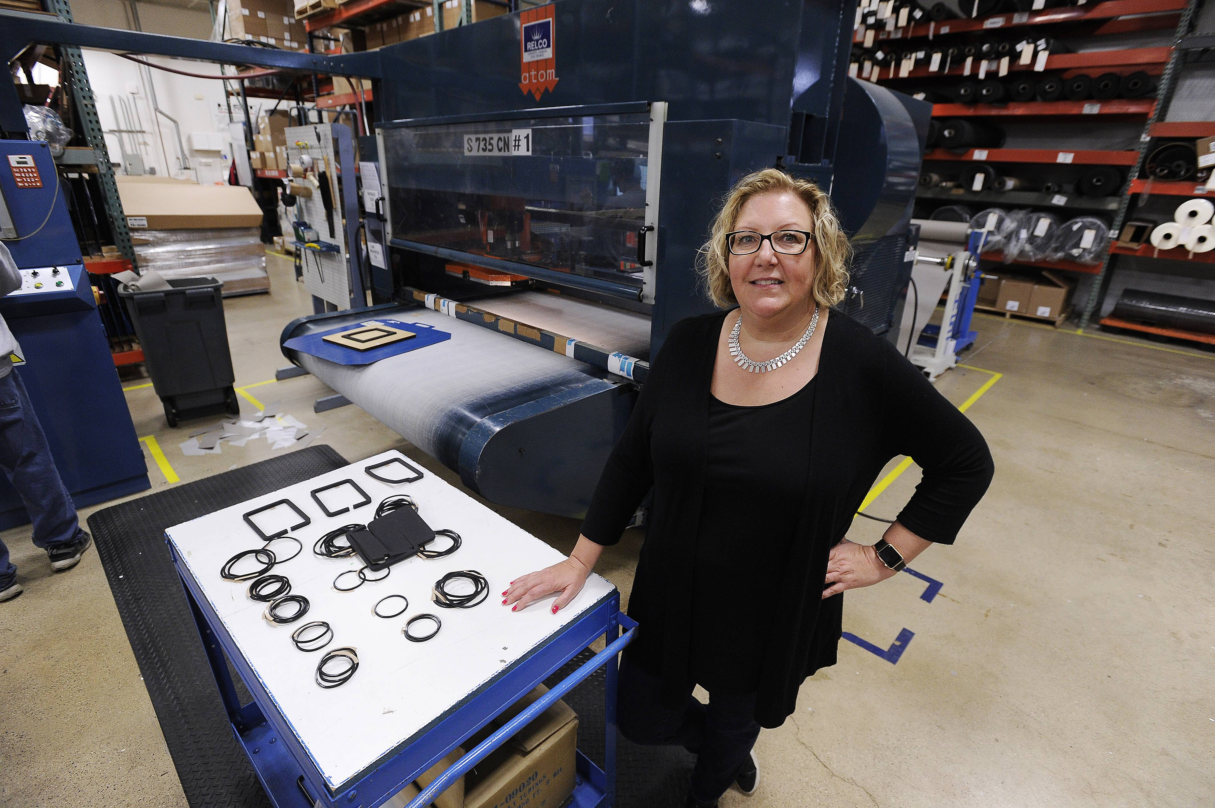 Kathryn Miller, president at HST Materials Inc. in Elk Grove Village, plans to add staff, create a second shift and add new equipment.