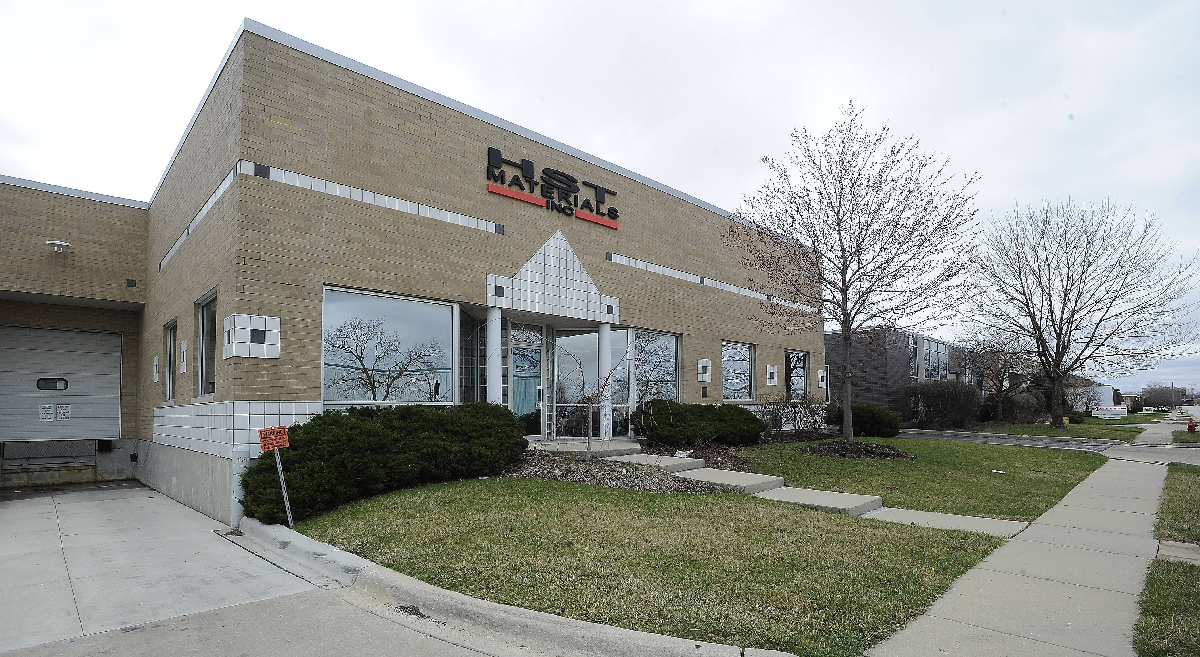 Exterior of HST Materials Inc. in Elk Grove Village.