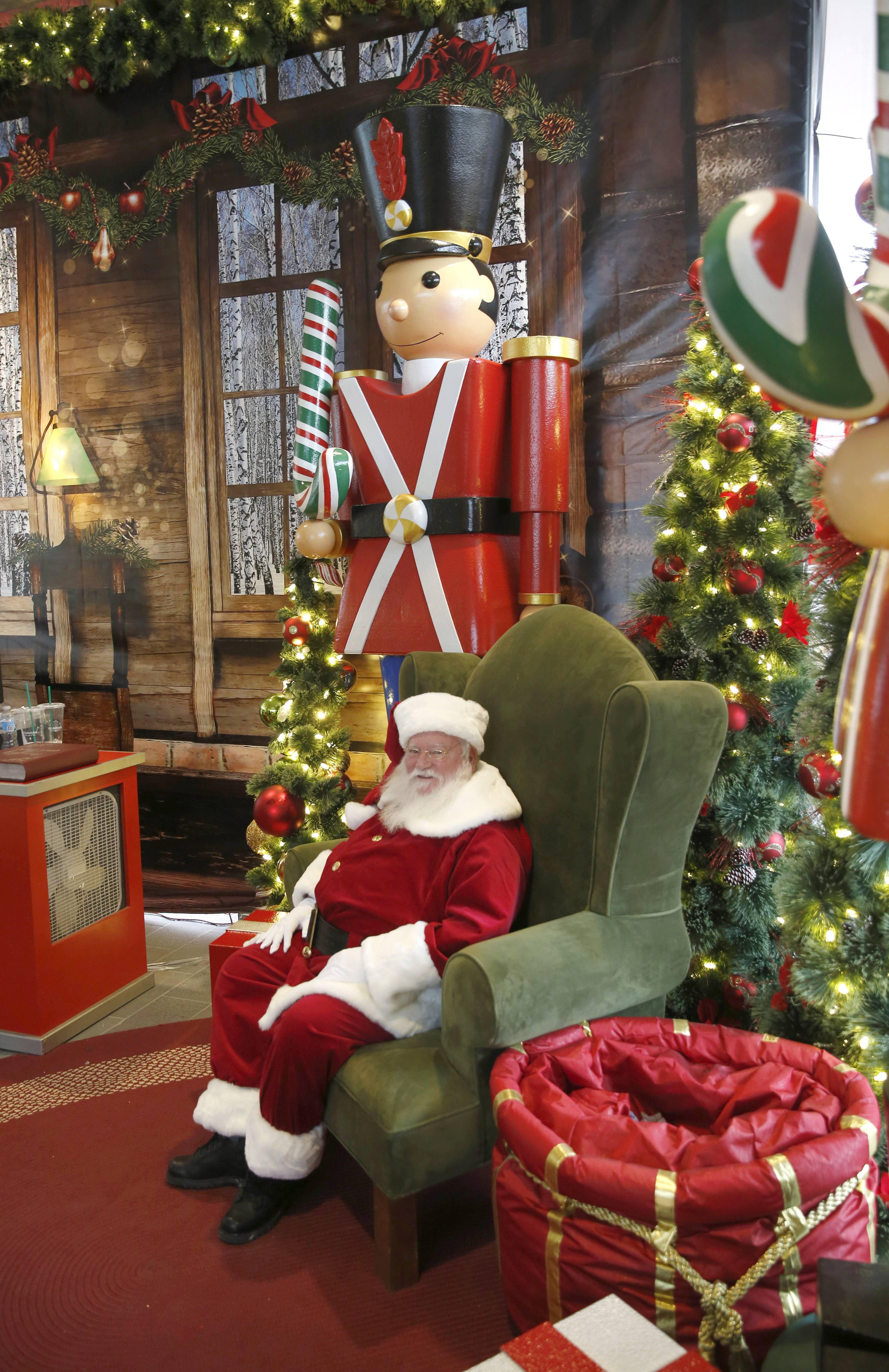 Santa Claus tries to unwind during the busy holiday season.