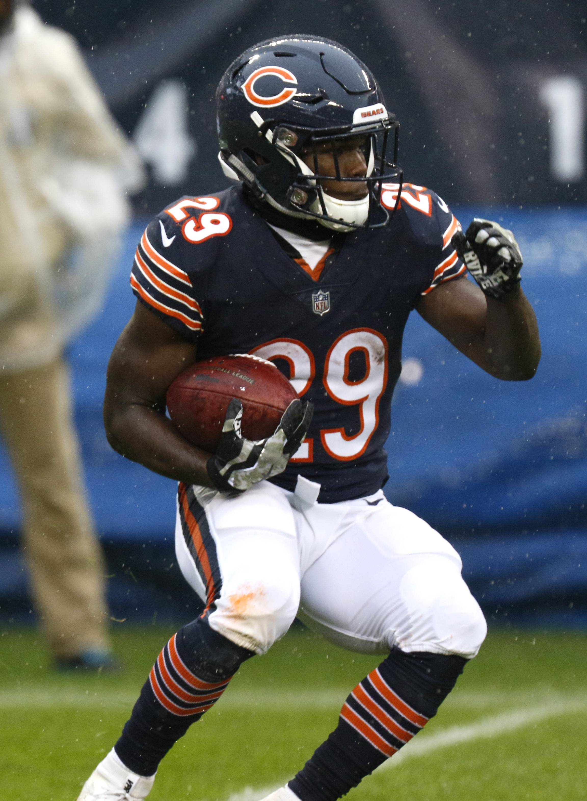 Daniel White/dwhite@dailyherald.comChicago Bears Tarik Cohen (29) runs for first half yardage against the Green Bay Packers, November 12, 2017, at Soldier Field.
