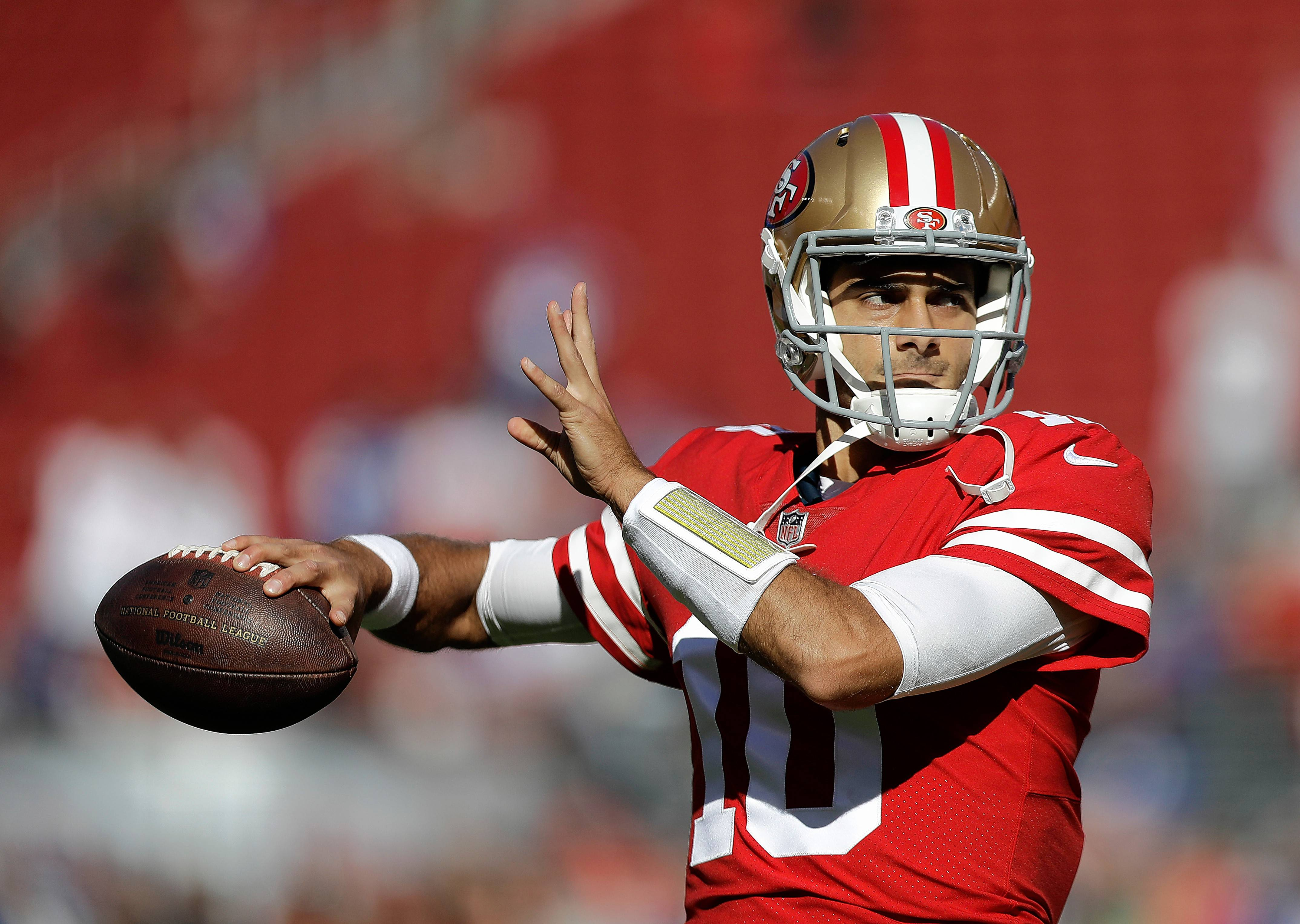 San Francisco quarterback Jimmy Garoppolo, a Rolling Meadows High School grad, could make his first start for the 49ers on Nov. 26 when they host Seattle.
