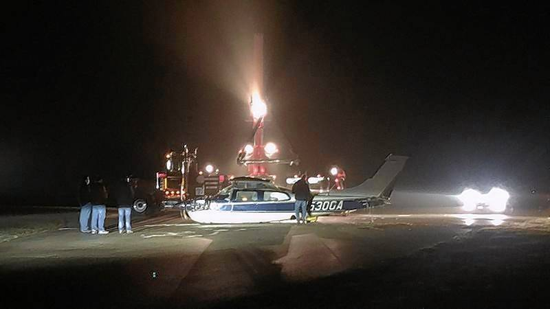 A Cary pilot flying a 1979 single-engine Cessna 210 from South Dakota had to make an emergency landing Sunday evening at Campbell Airport in Grayslake. He was not injured, and the damage to the plane was minor.
