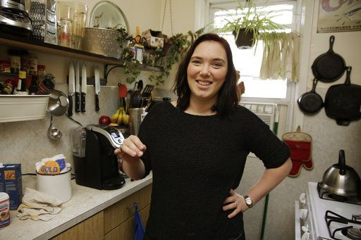 Ruthy Kirwan, of Percolate Kitchen, poses for a photo in her apartment kitchen, in the Queens borough of New York, Wednesday, Nov. 8, 2017. Before actors perform a play for an audience, they run a dress rehearsal to look for kinks that need fixing before the show opens. Traditional Thanksgiving dinner is a big production that can benefit from rehearsal, too, say some veteran hosts.