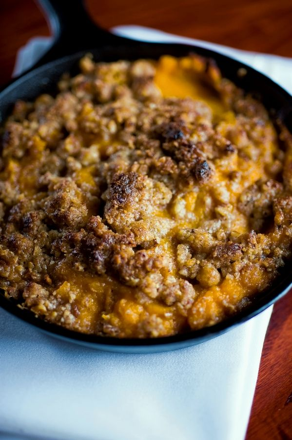The sweet potato casserole with a pecan crust is on the Thanksgiving menu at Sullivan's Steakhouse in Naperville.