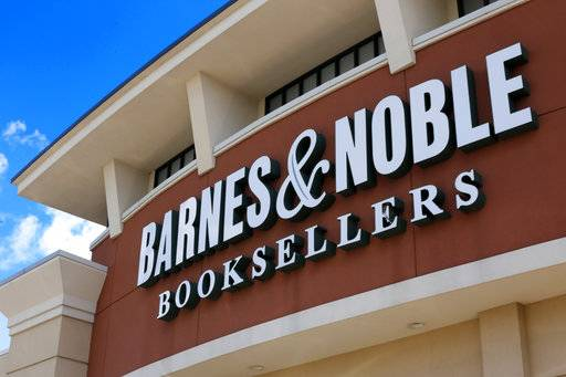 FILE - This Aug. 31, 2017, file photo, shows the facade of a Barnes and Noble Booksellers store in Pittsburgh. Sandell Asset Management, an activist investor, has proposed taking Barnes & Noble private but the company does not consider the offer genuine, the book chain said Thursday, Nov. 16, 2017. Its shares soared on the report. (AP Photo/Gene J. Puskar)